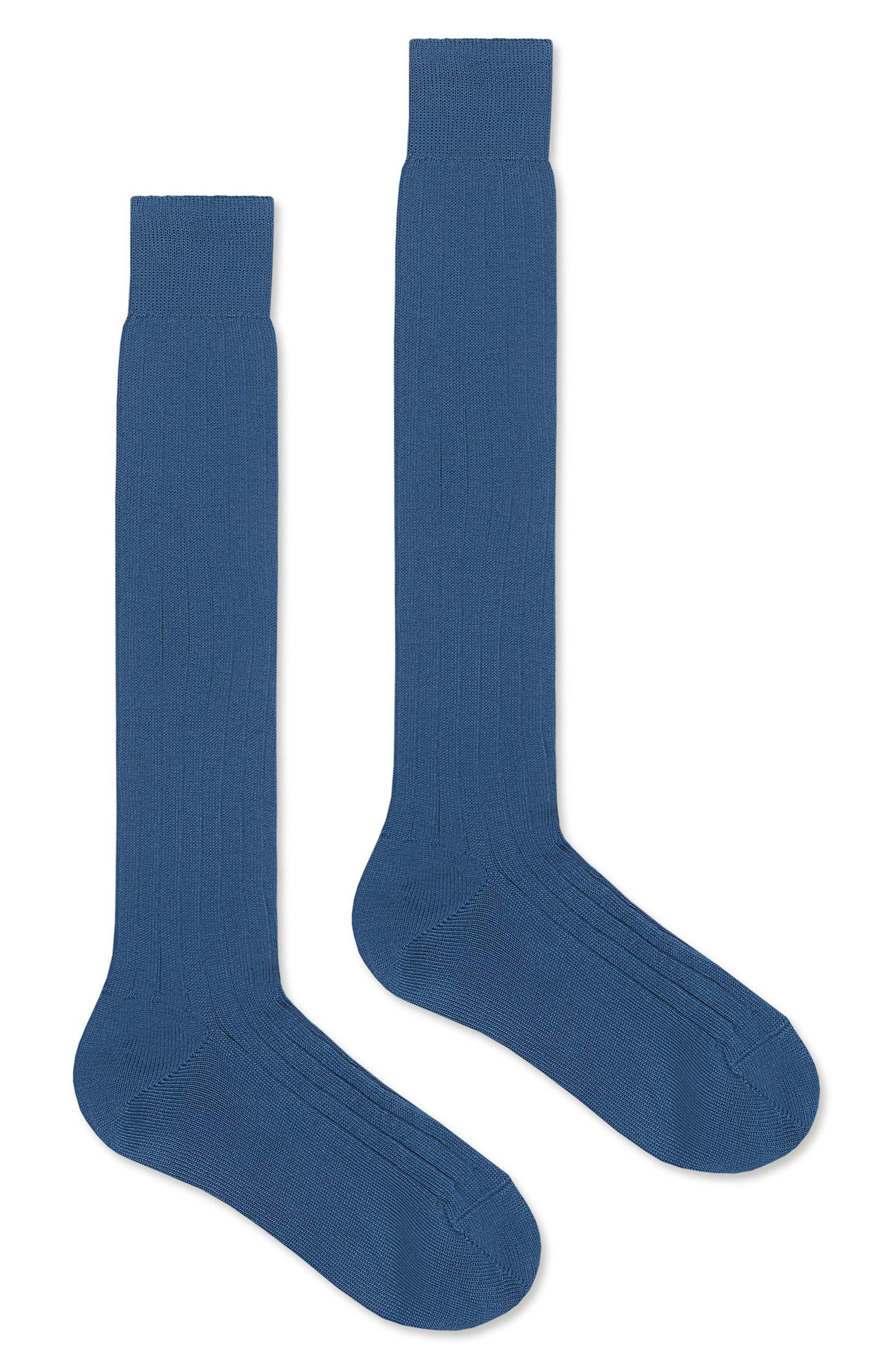 Cotton Socks,                             Alternate thumbnail 2, color,                             4400 Petroleum Blue