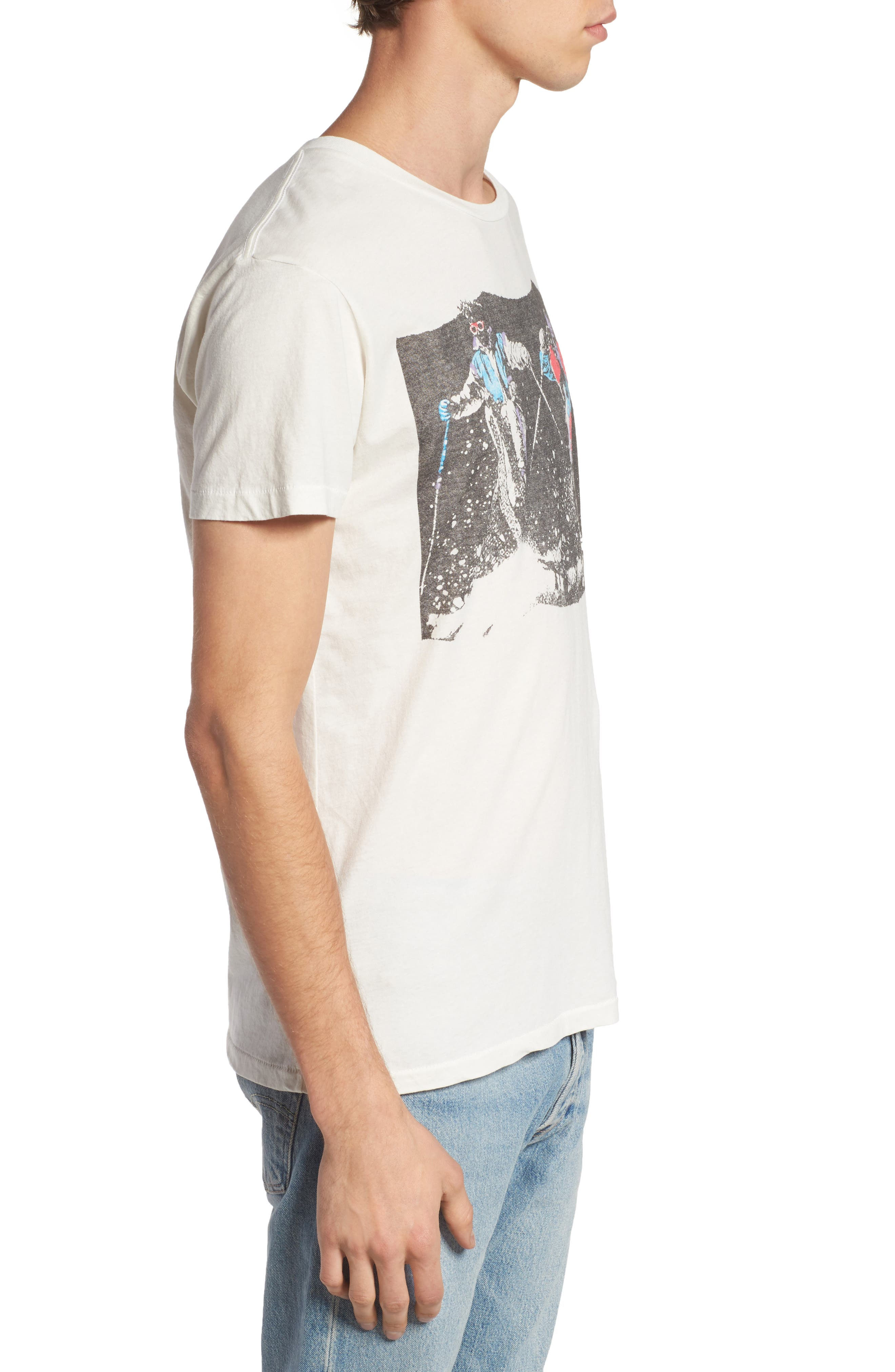 Pow Pow Crew Graphic T-Shirt,                             Alternate thumbnail 3, color,                             Dirty White