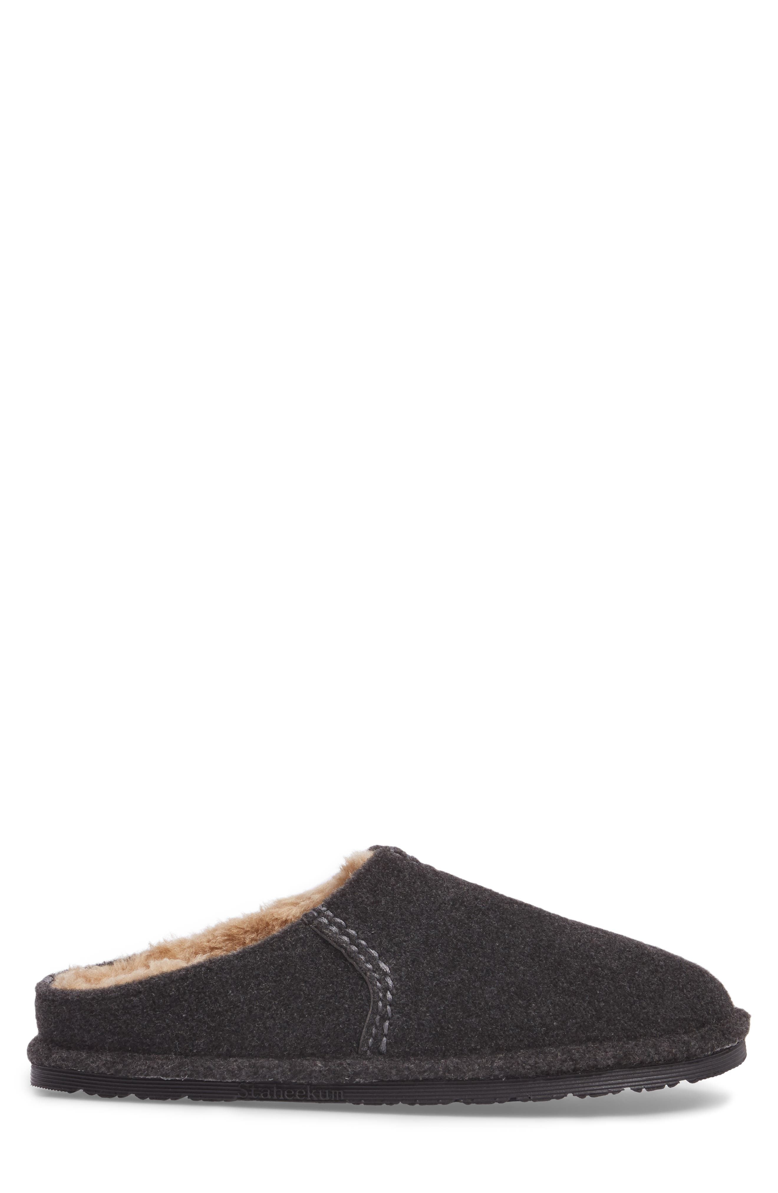 Timber Scuff Slipper,                             Alternate thumbnail 3, color,                             Charcoal Felt/ Polyester