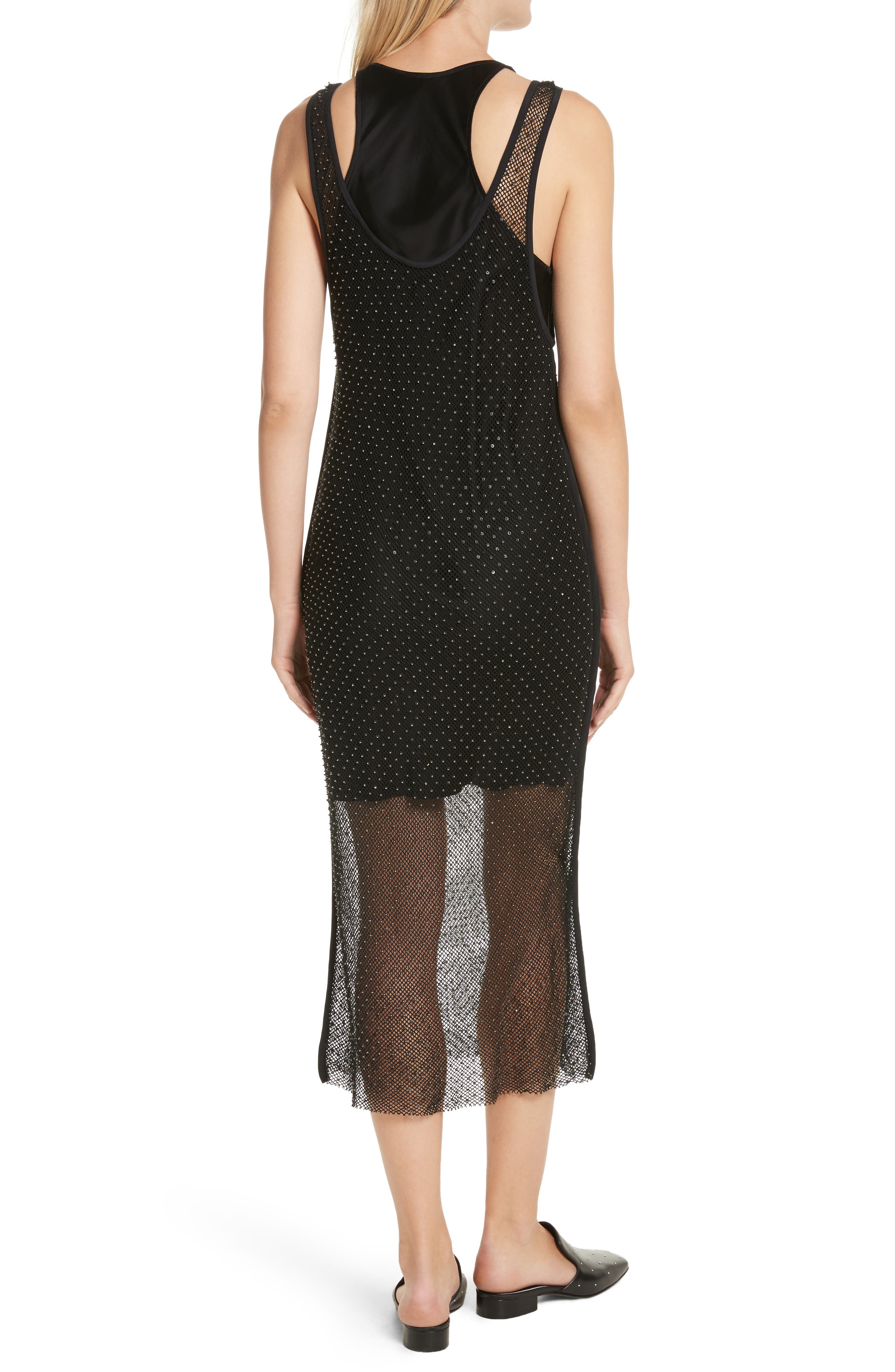 Alternate Image 2  - rag & bone Terry Beaded Mesh Tank Dress