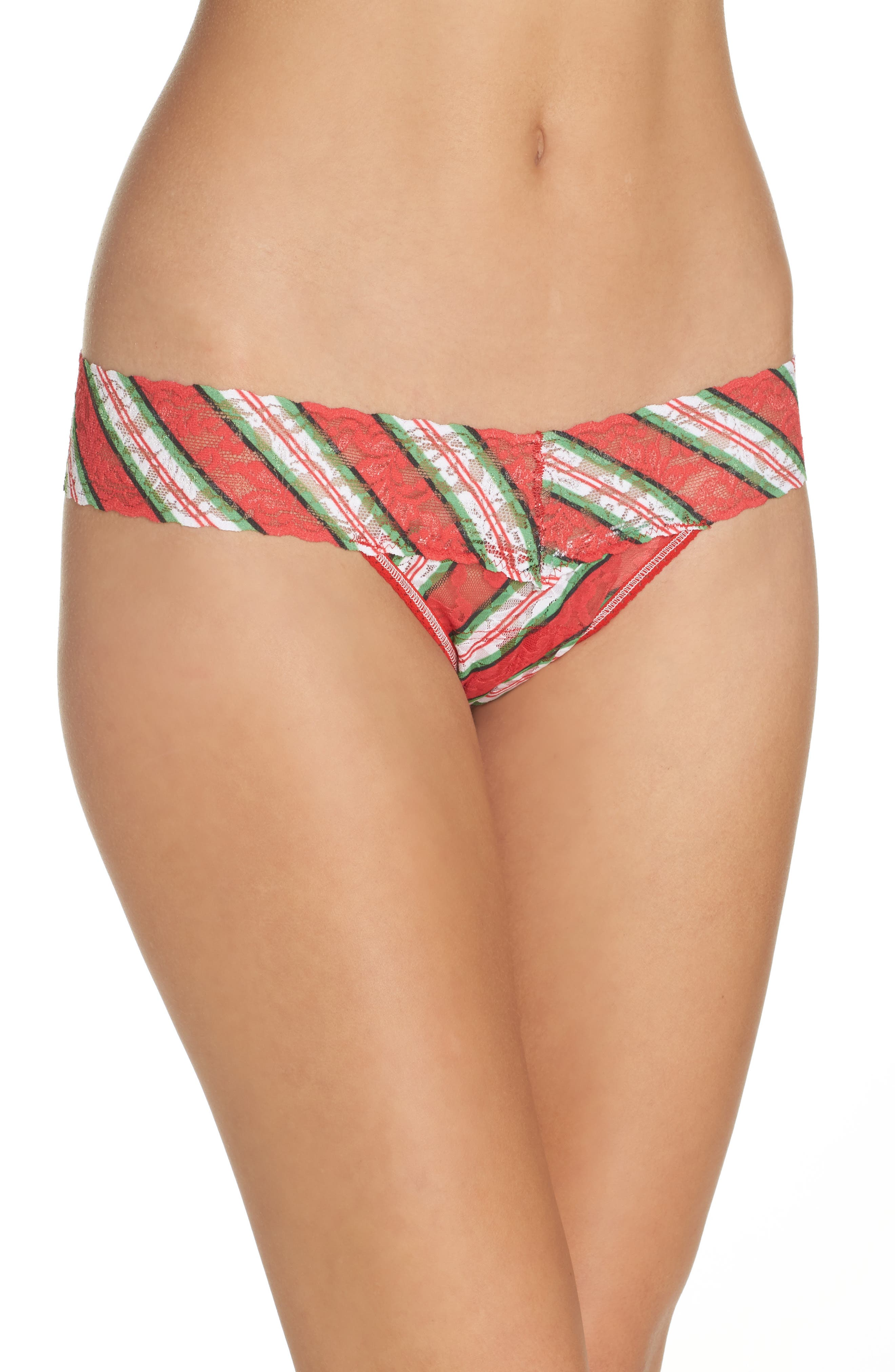 It's a Wrap Low Rise Thong,                         Main,                         color, Red Multi