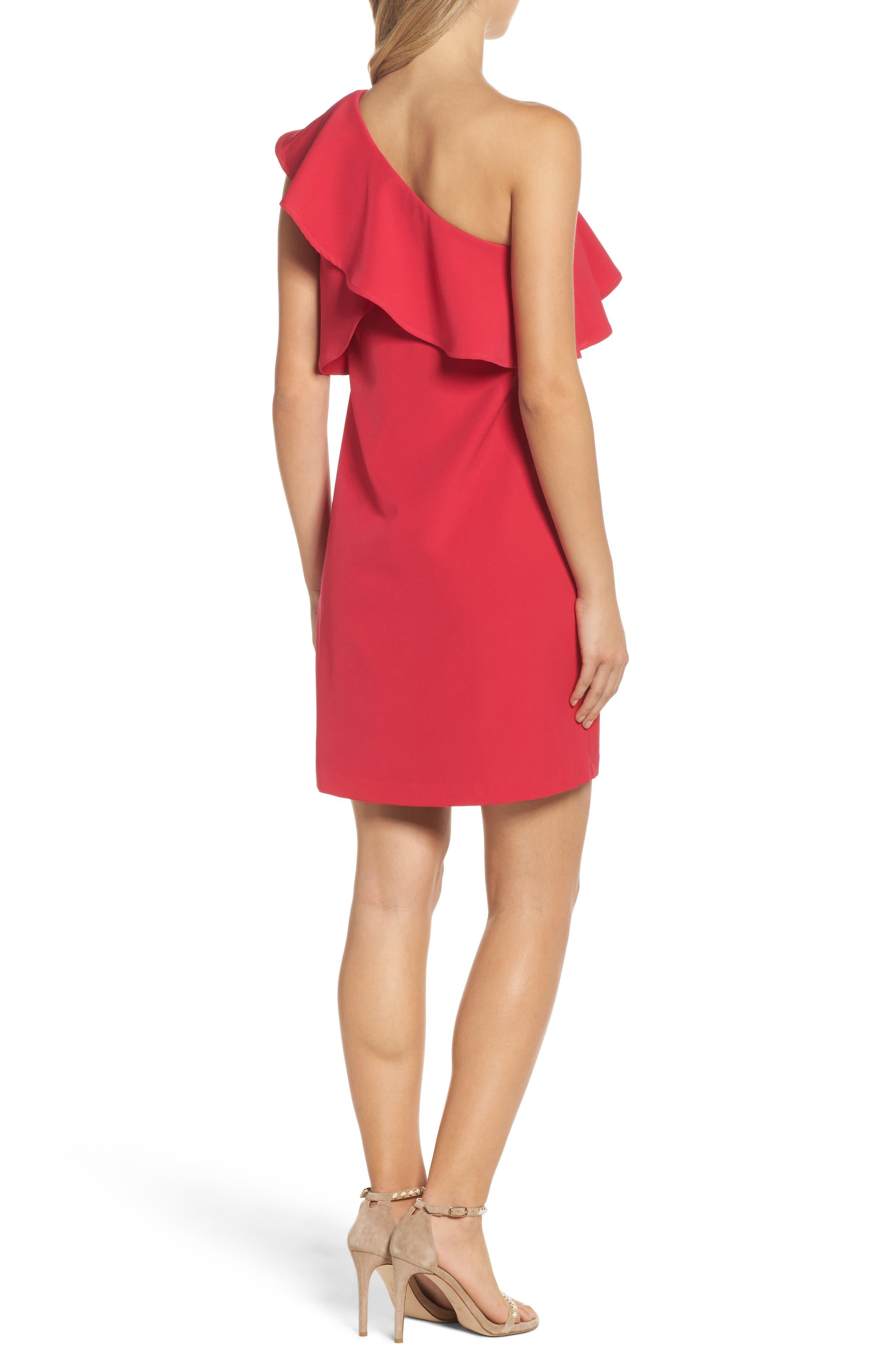 Alternate Image 2  - Charles Henry Ruffle One-Shoulder Dress
