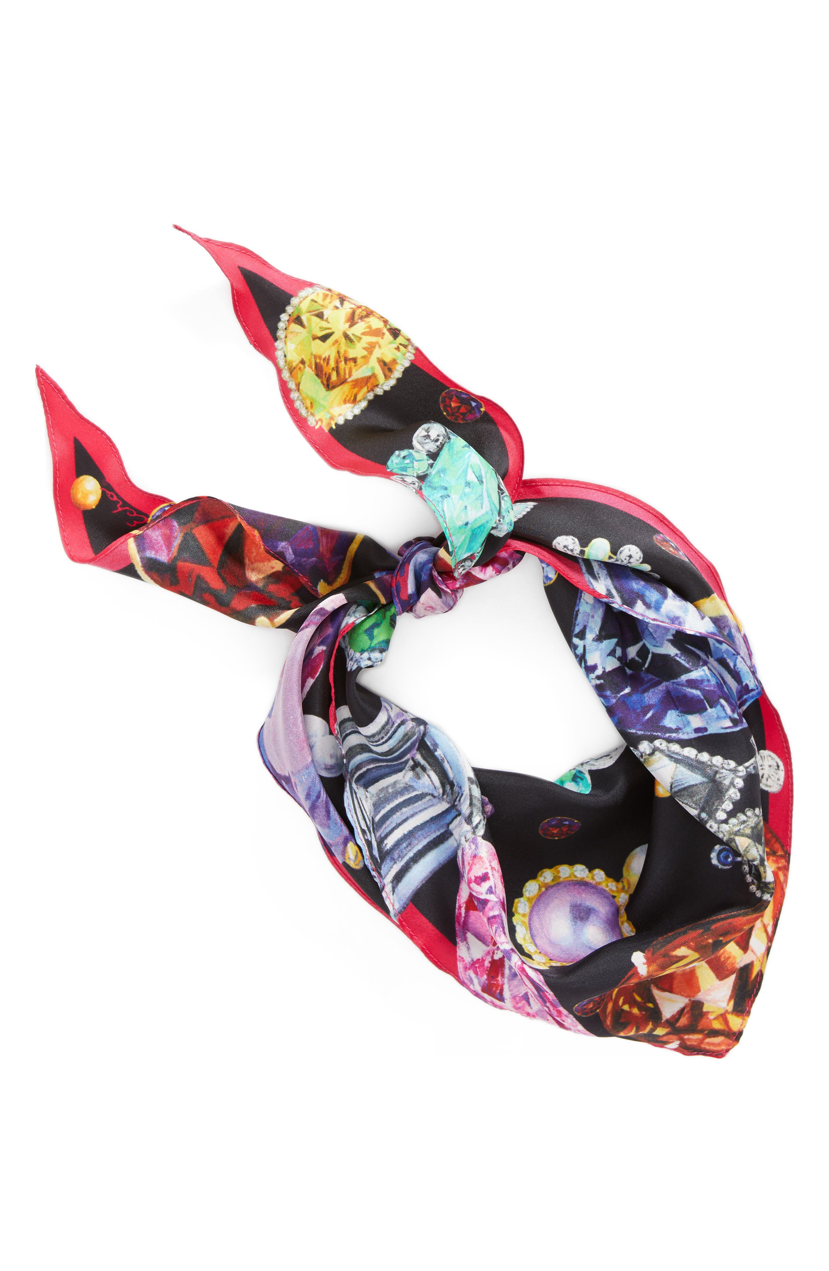 Alternate Image 3  - Echo Bejeweled Diamond Silk Scarf