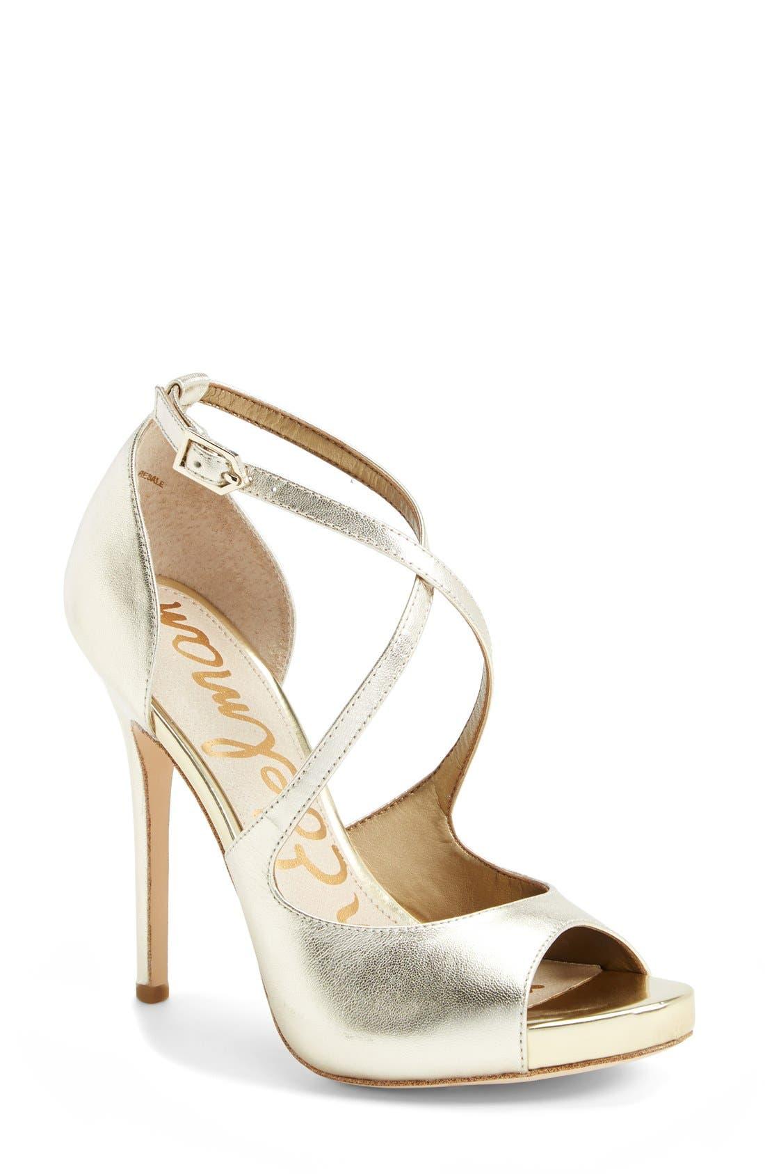 Main Image - Sam Edelman 'Elizabeth' Metallic Leather Sandal (Women)