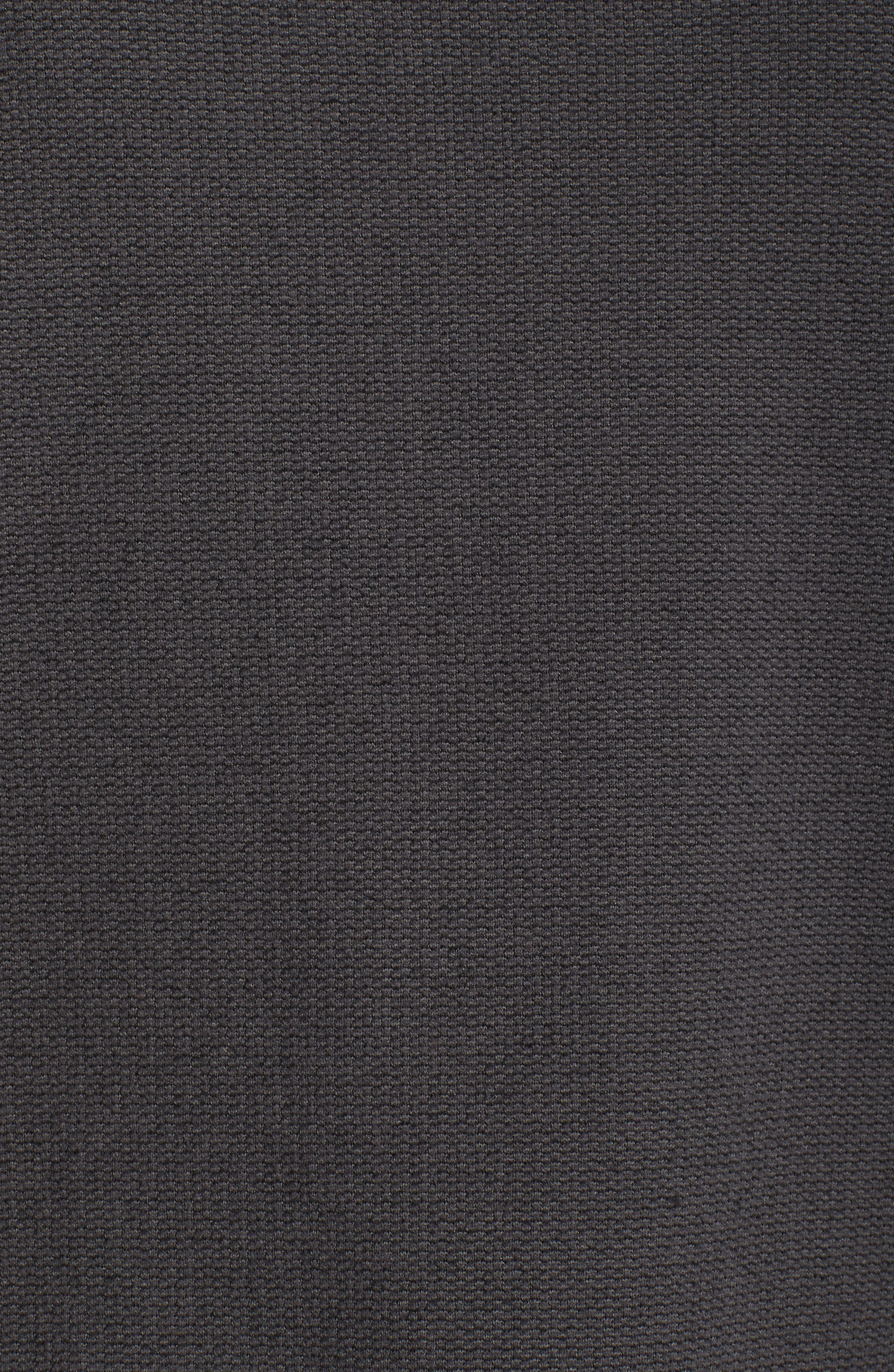 Knit Stitch Fleece Hoodie,                             Alternate thumbnail 6, color,                             Tnf Black