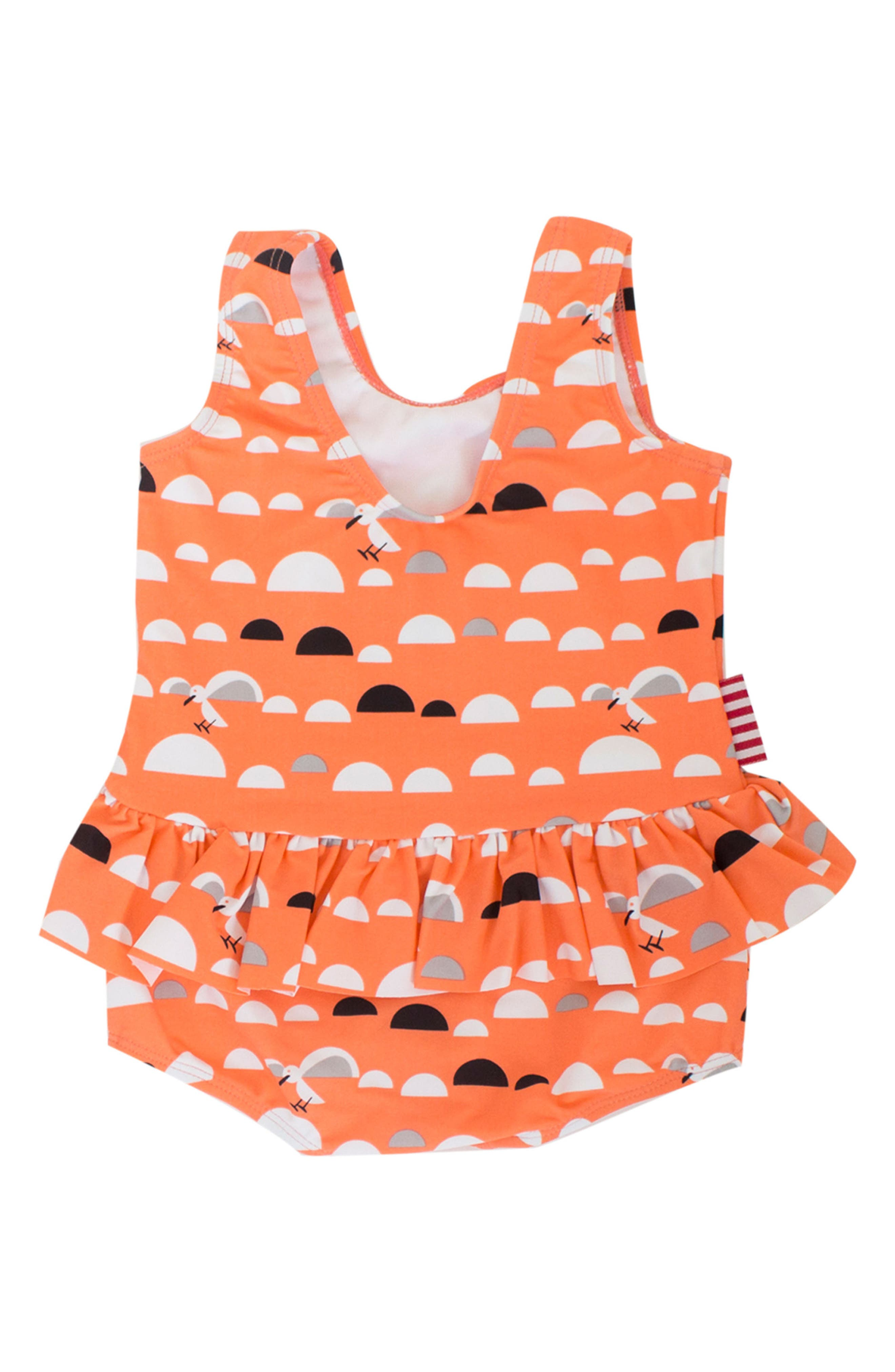 Alternate Image 2  - SOOKIbaby Little Miss C.Gull Skirted One-Piece Swimsuit (Baby Girls)