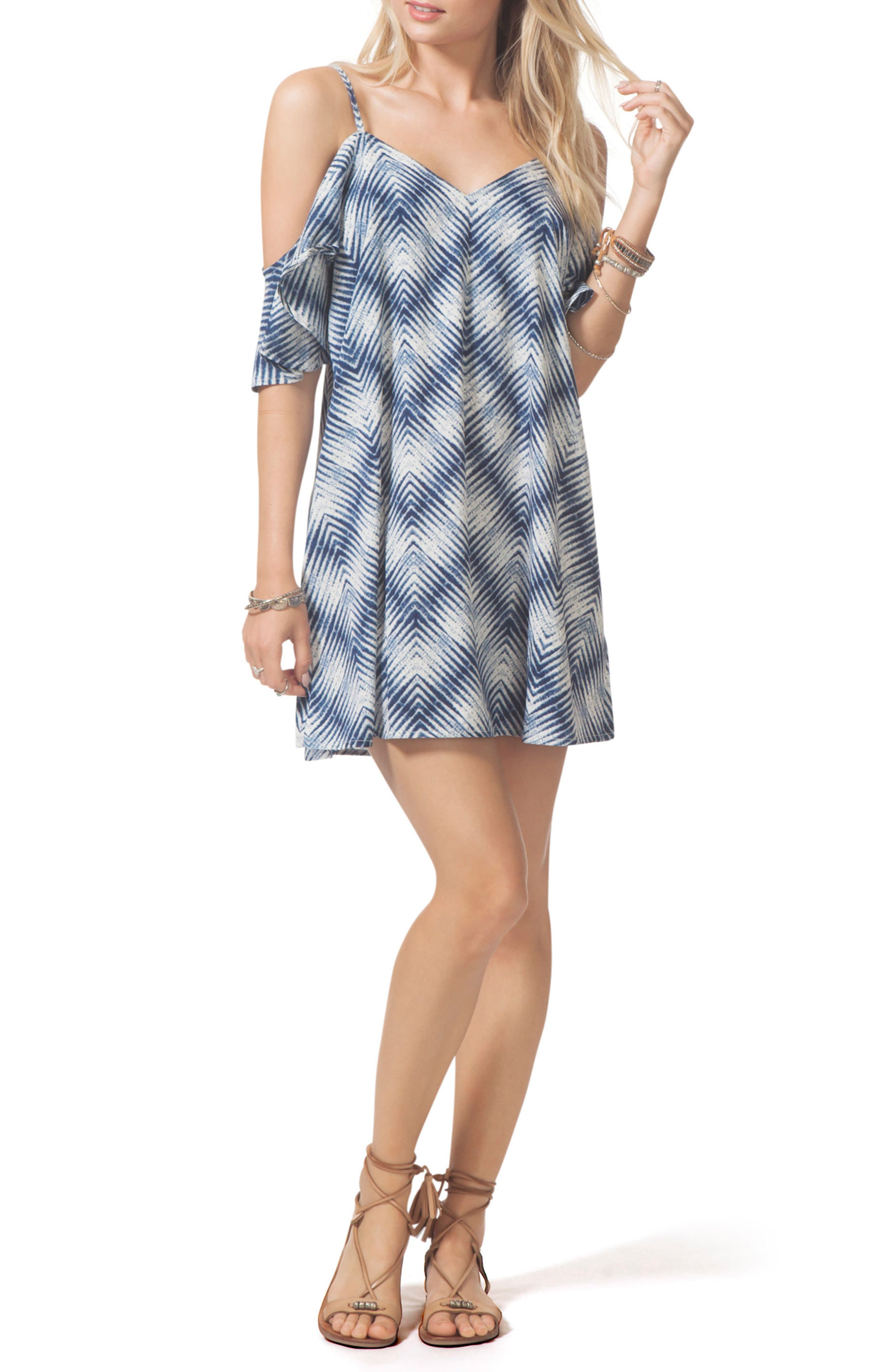 Alternate Image 3  - Rip Curl Last Light Cold Shoulder Dress