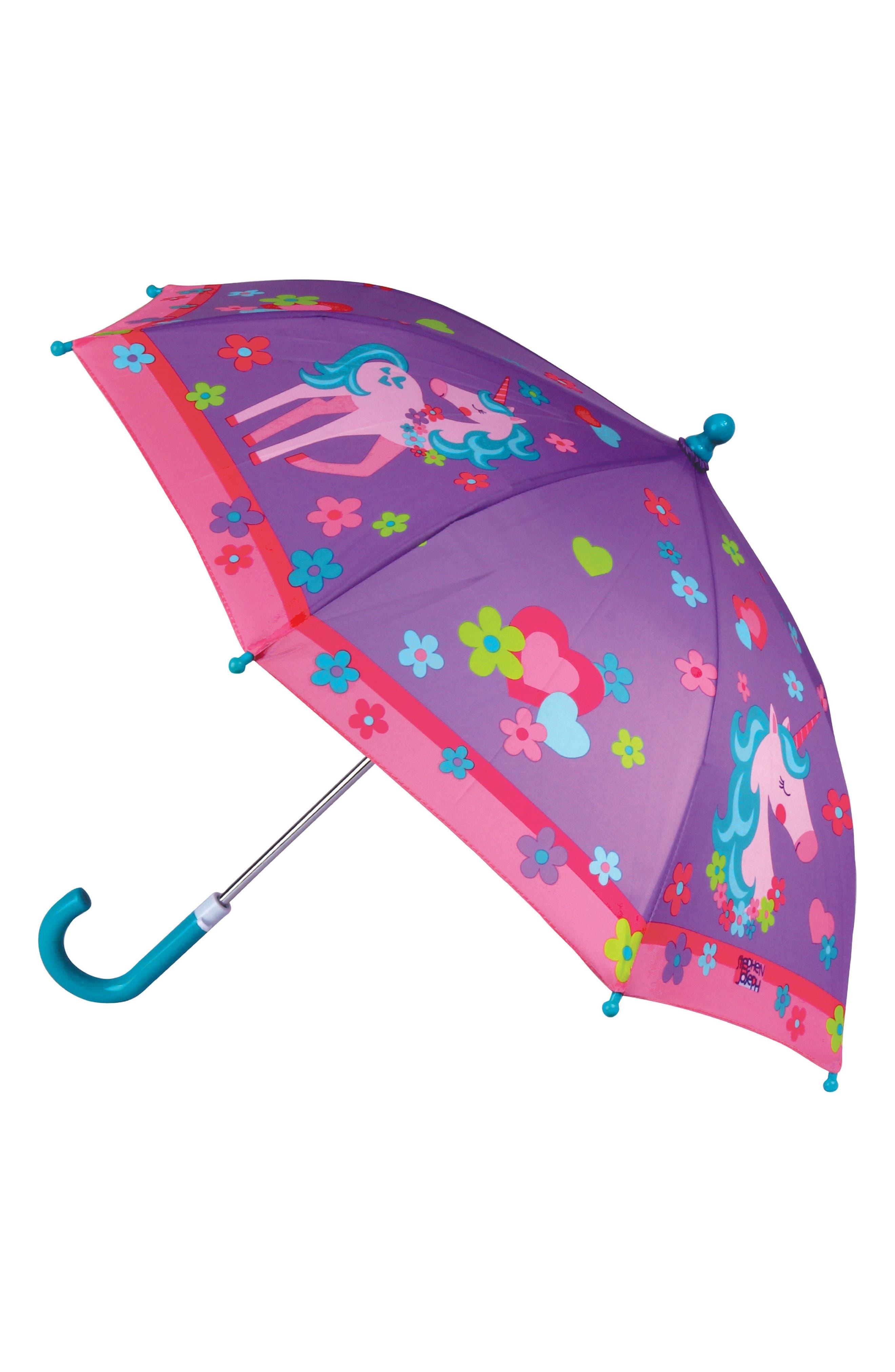 Alternate Image 4  - Stephen Joseph Unicorn Raincoat & Umbrella Set (Toddler Girls, Little Girls)