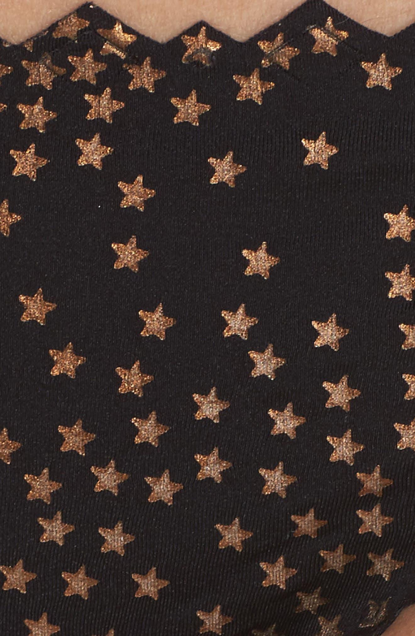 Ruffled Star Bikini Bottoms,                             Alternate thumbnail 5, color,                             Black City Of Stars