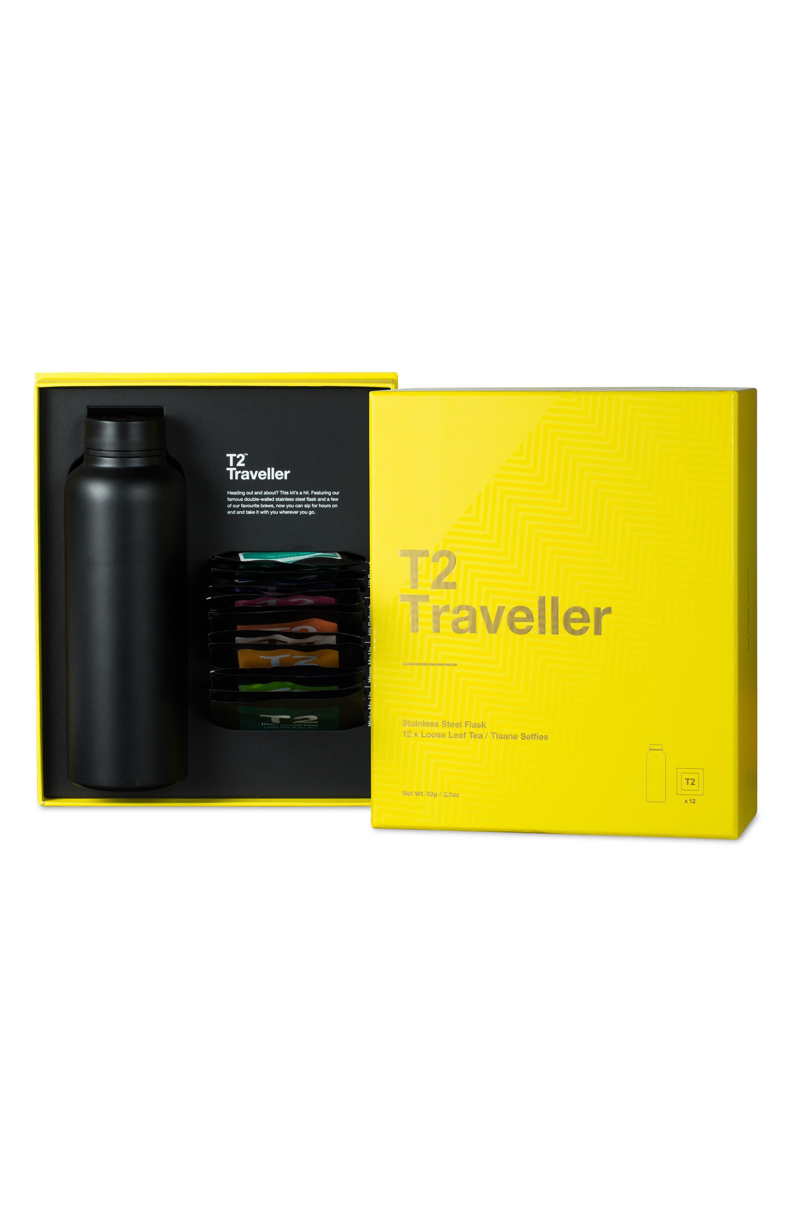Traveller Stainless Steel Tea Flask,                             Alternate thumbnail 2, color,                             Multi