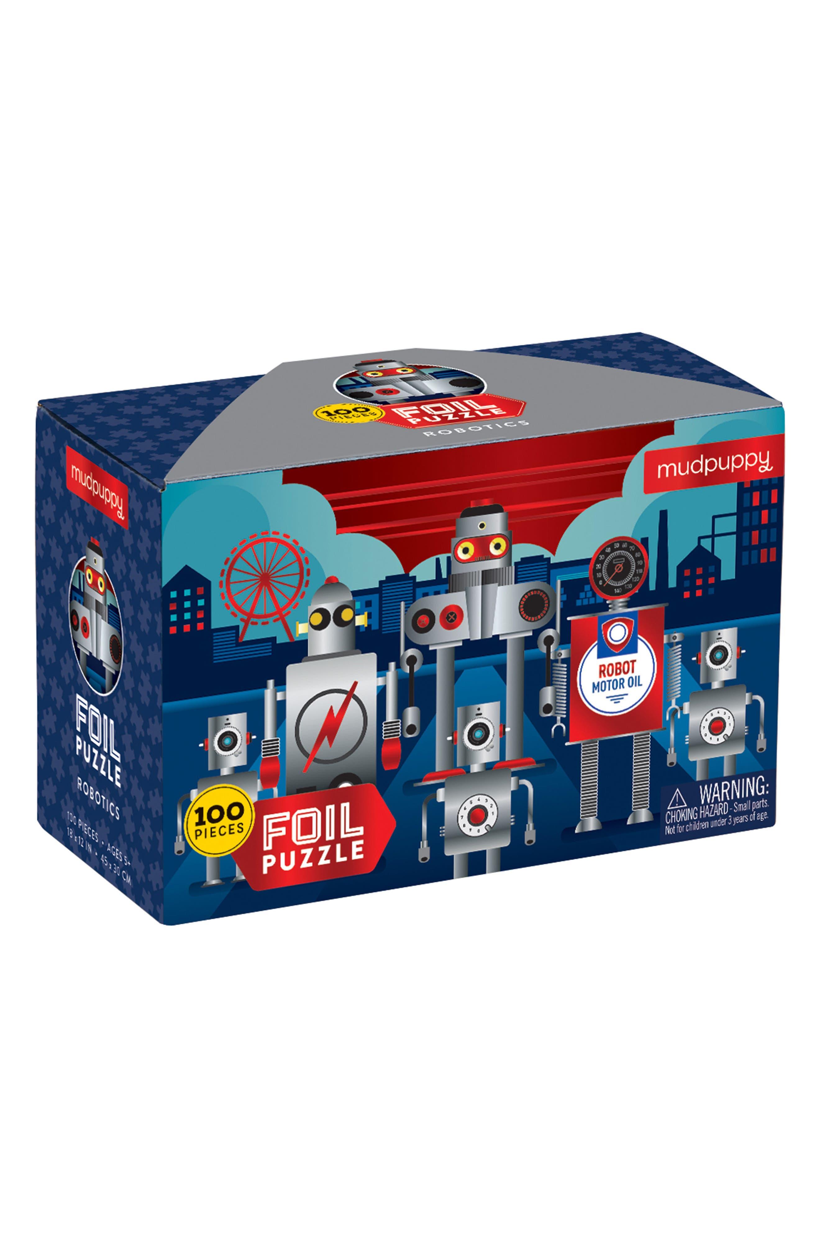Chronicle Books Robotics Illustrated 100-Piece Foil Puzzle
