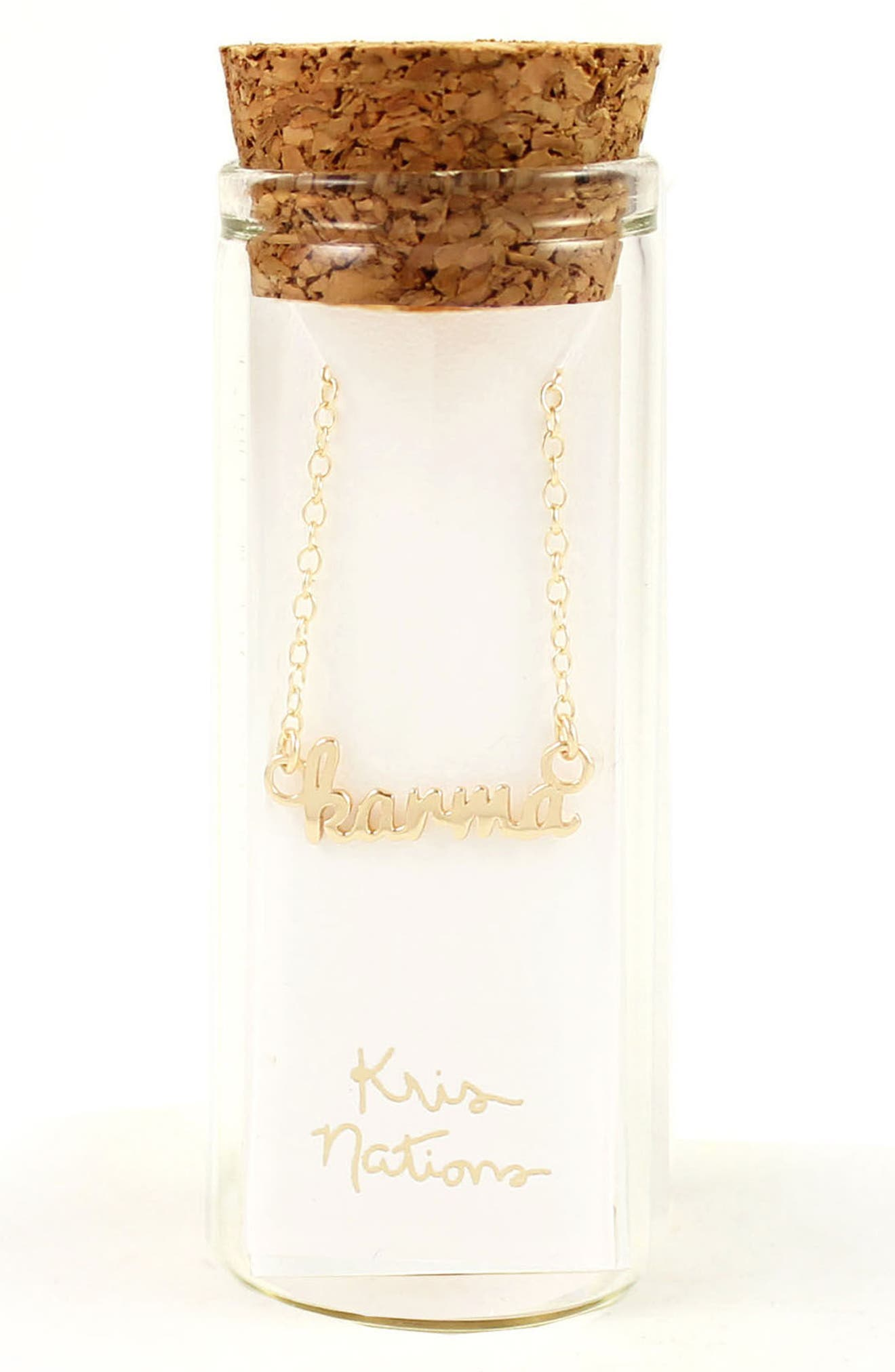 Alternate Image 2  - Kris Nations Karma Script Necklace