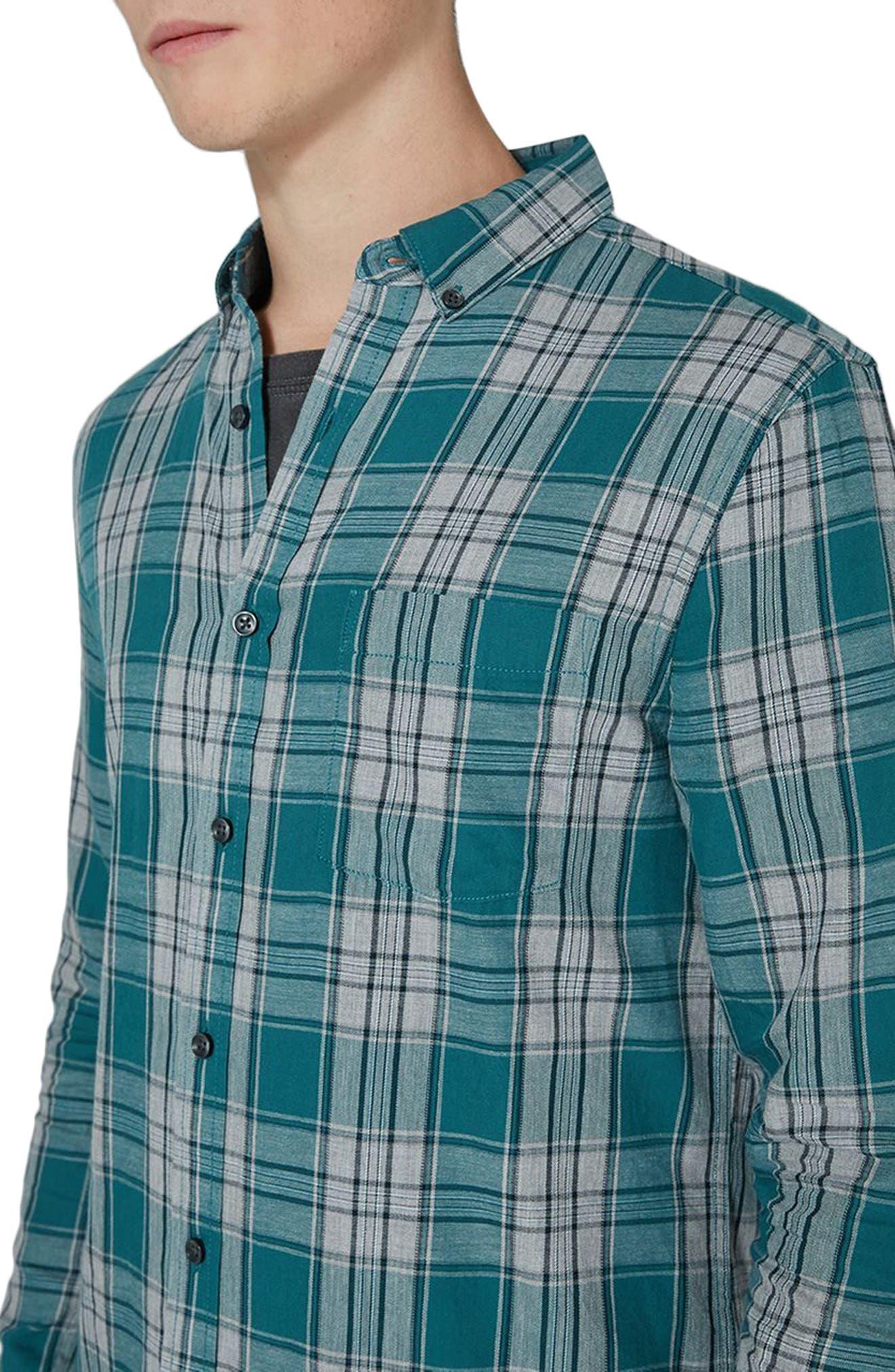 Charlie Check Shirt,                             Alternate thumbnail 3, color,                             Blue Multi