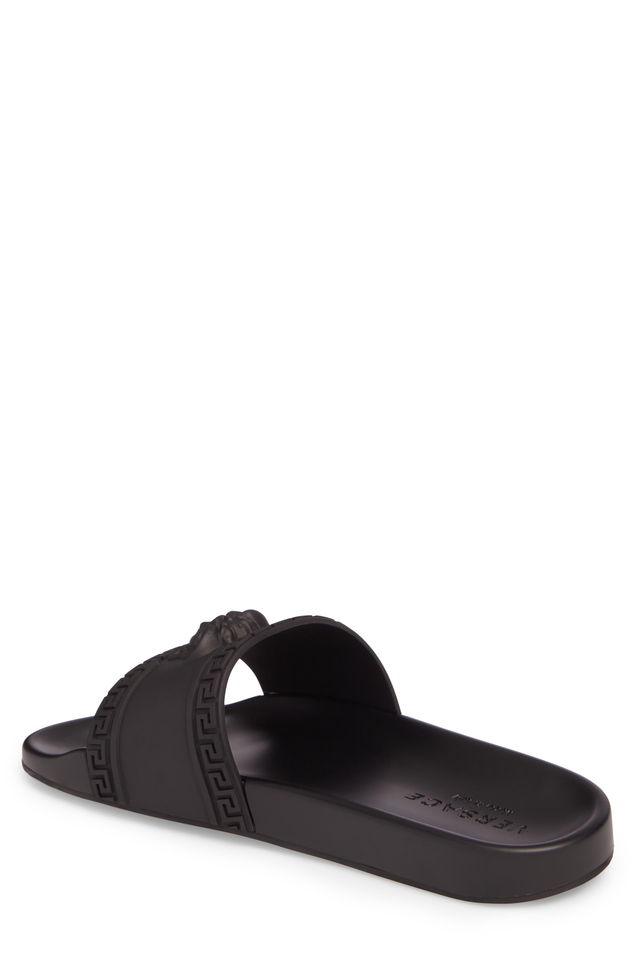 Palazzo Medusa Slide Sandal,                             Alternate thumbnail 2, color,                             Black