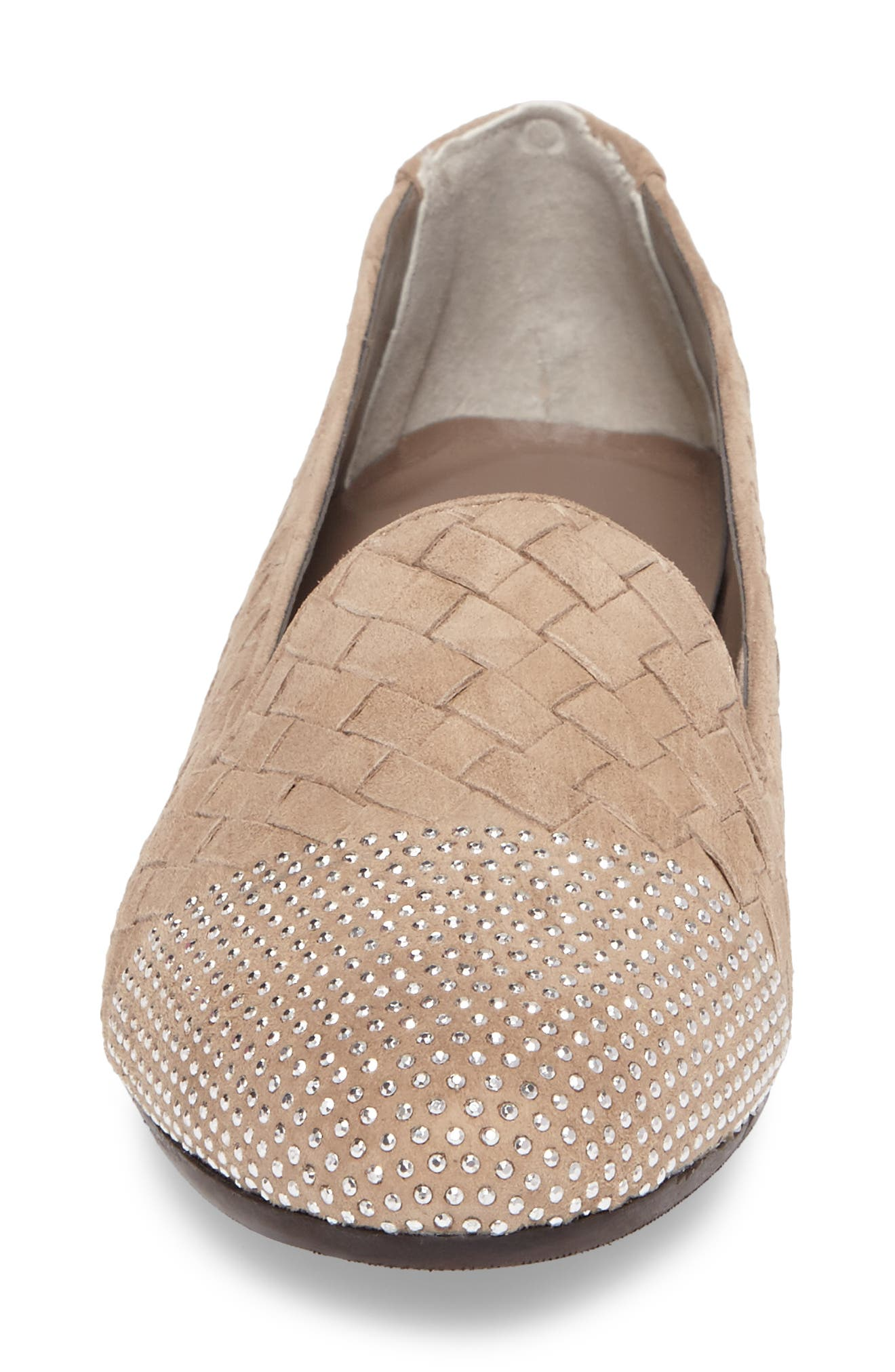 Nicia Flat,                             Alternate thumbnail 4, color,                             Light Taupe Suede