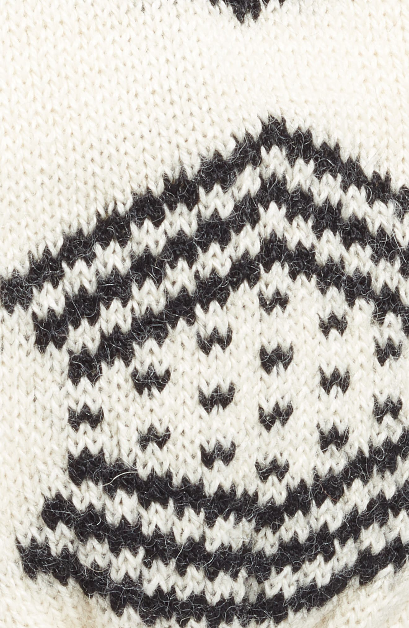 Tribeca Alpaca Headband,                             Alternate thumbnail 2, color,                             White/Black Reversible