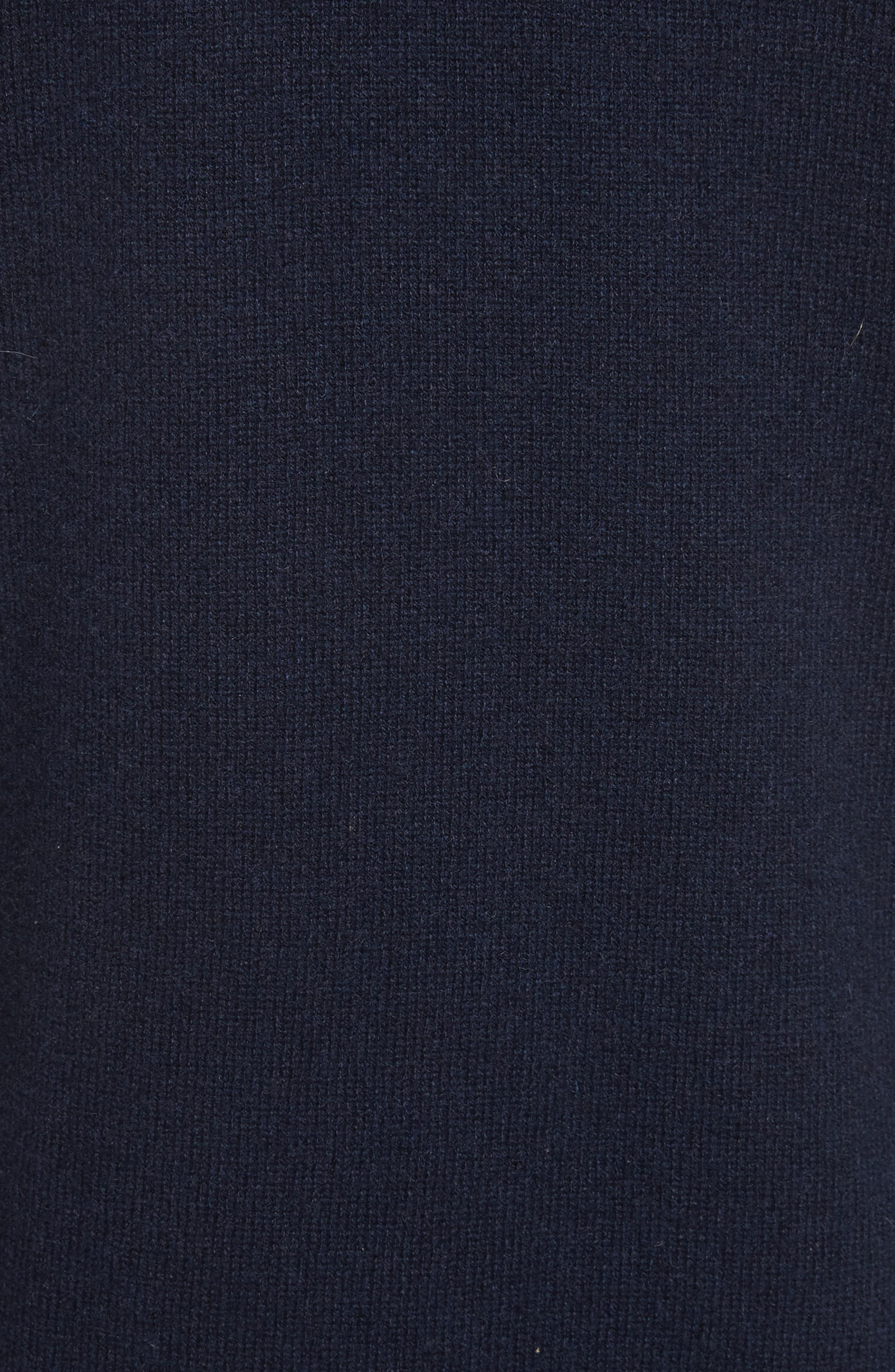 Button Sleeve Cashmere Sweater,                             Alternate thumbnail 5, color,                             Deep Navy