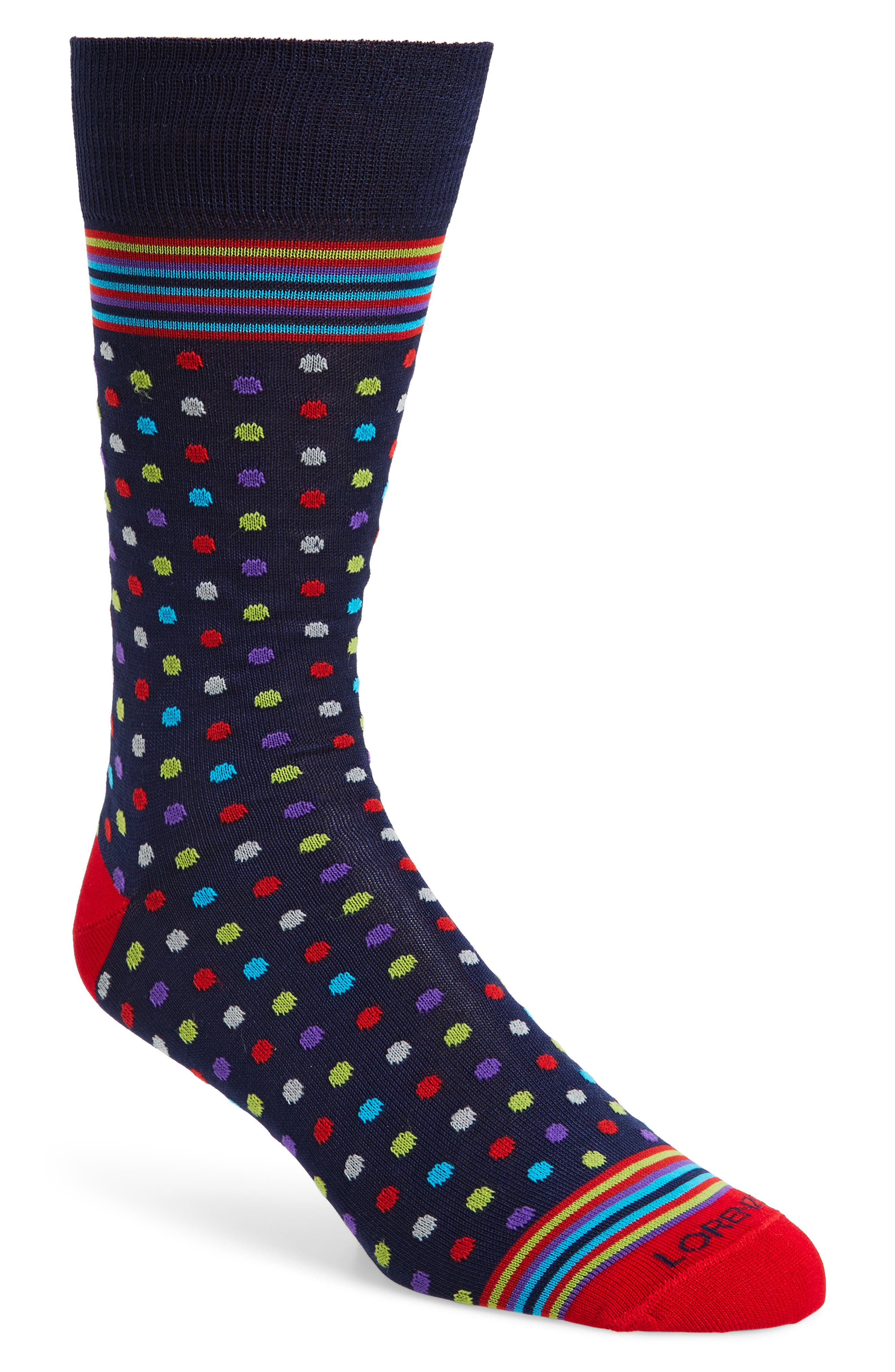 Lorenzo Uomo Dots and Stripes Socks (3 for $30)