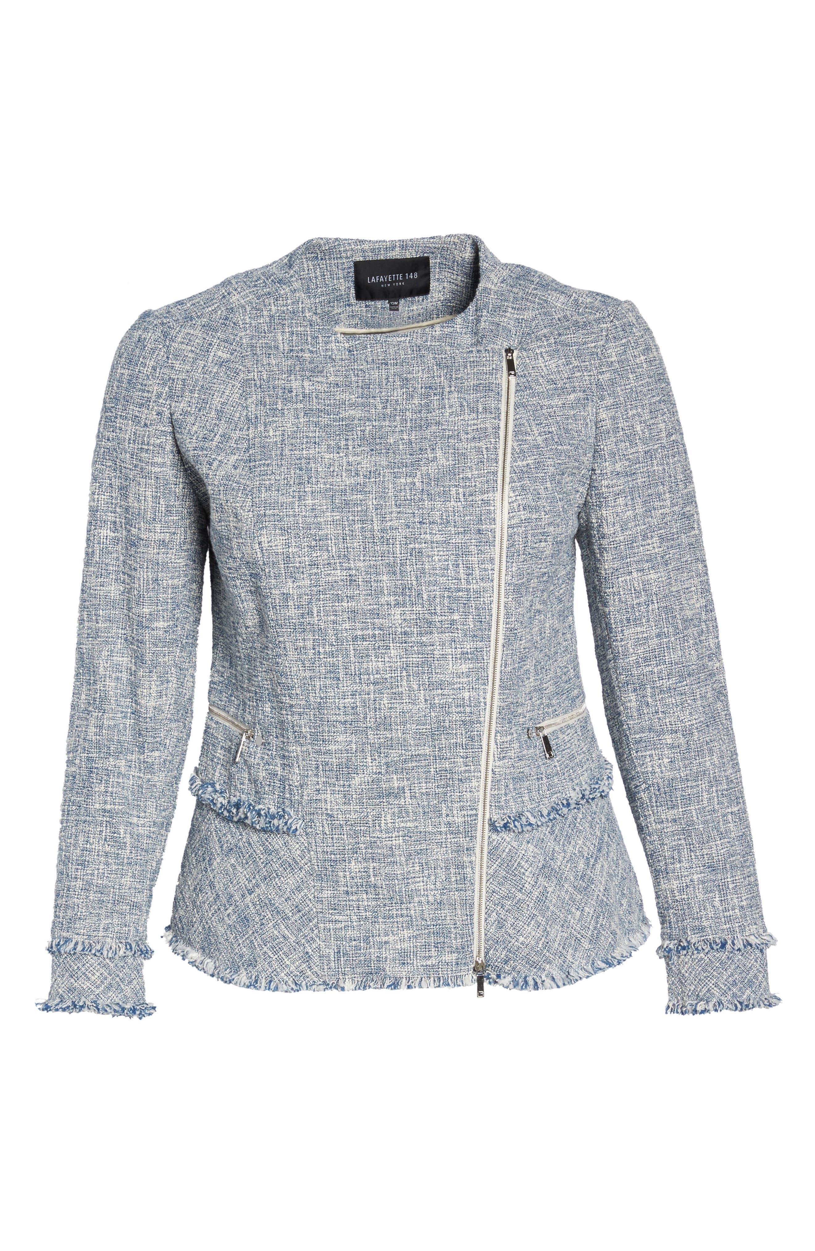 Alternate Image 6  - Lafayette 148 New York Owen Tweed Jacket (Plus Size)