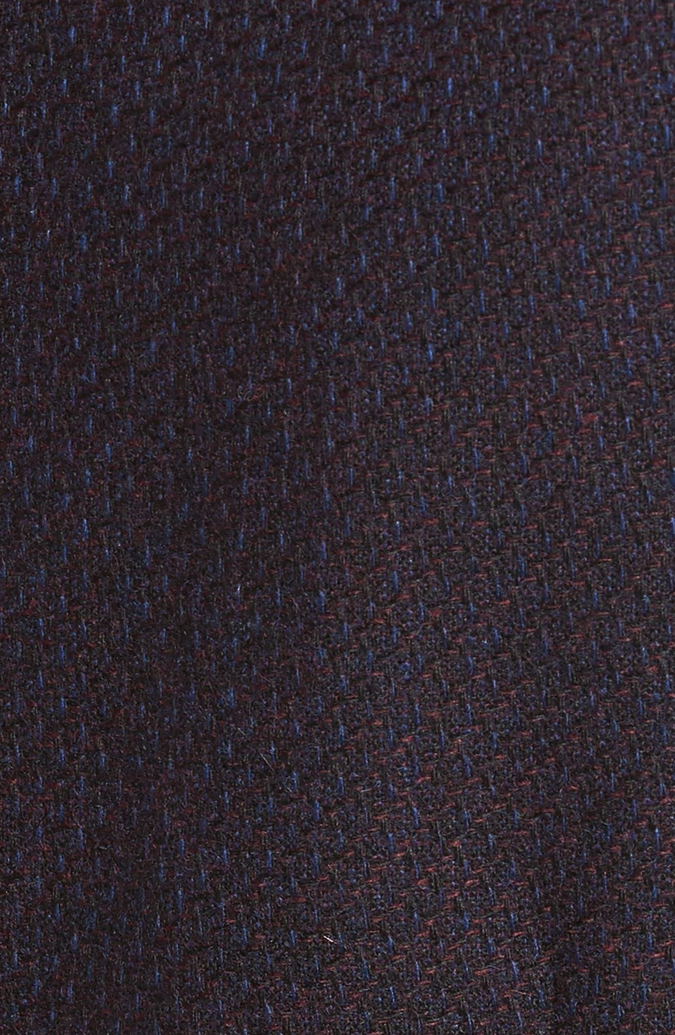 Textured Wool Blend Vest,                             Alternate thumbnail 5, color,                             Burgundy