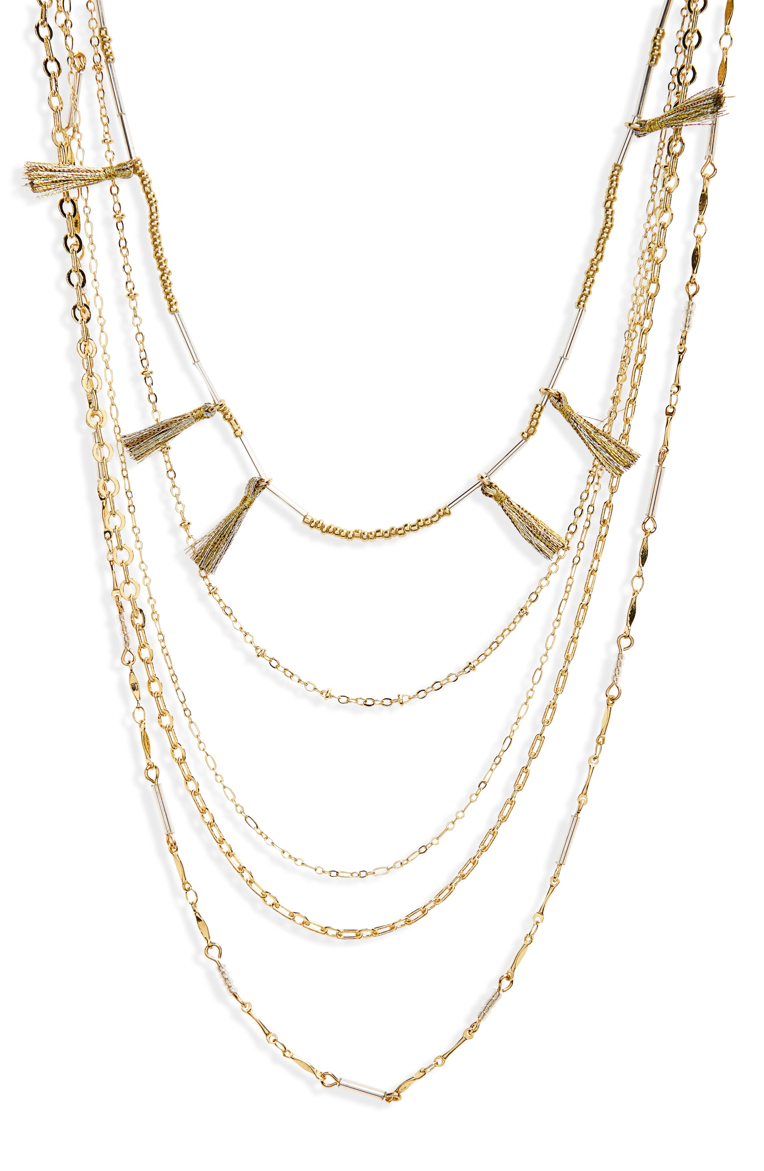 Alternate Image 2  - Rebecca Minkoff Long Layered Necklace with Metallic Tassels