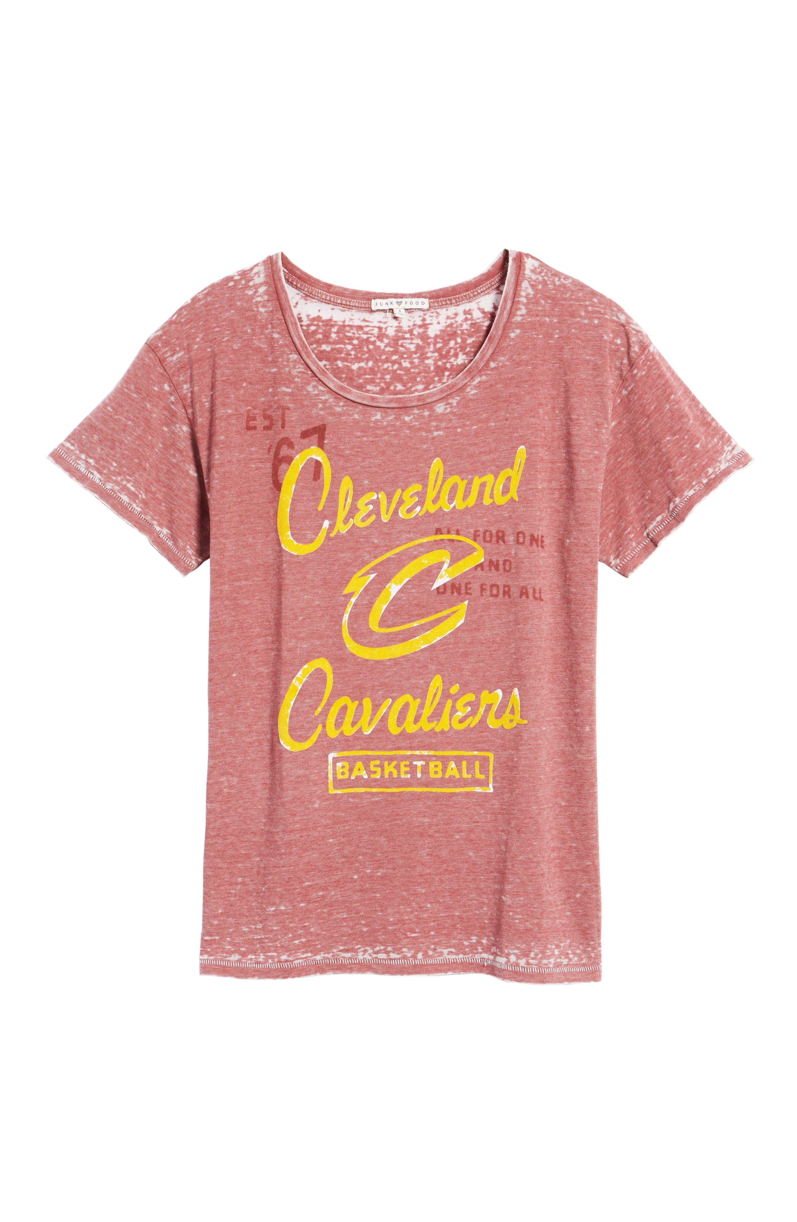 NBA Cleveland Cavaliers Tee,                             Alternate thumbnail 6, color,                             Crimson