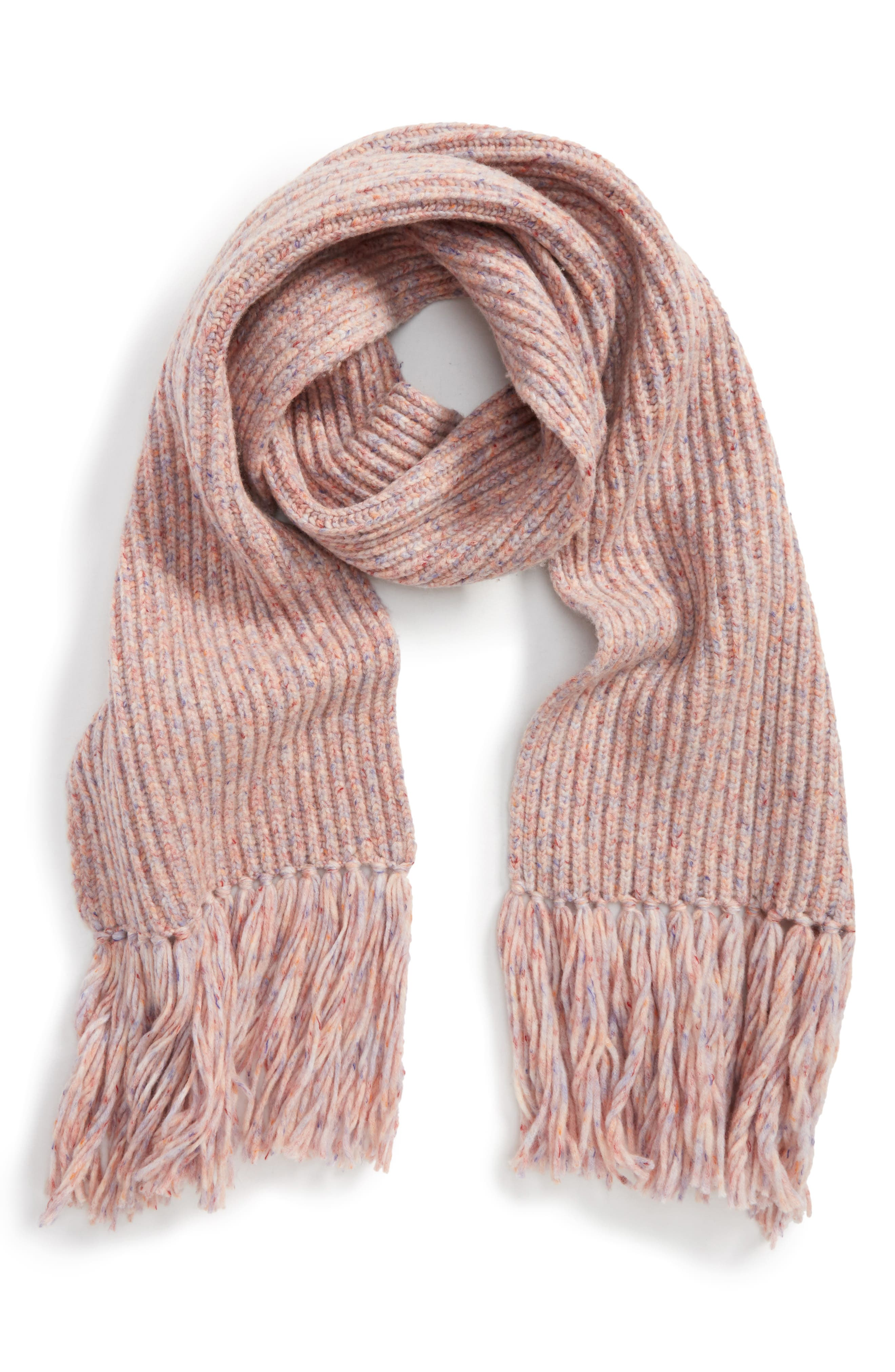 Devin Wool Blend Scarf,                             Main thumbnail 1, color,                             Pink Multi