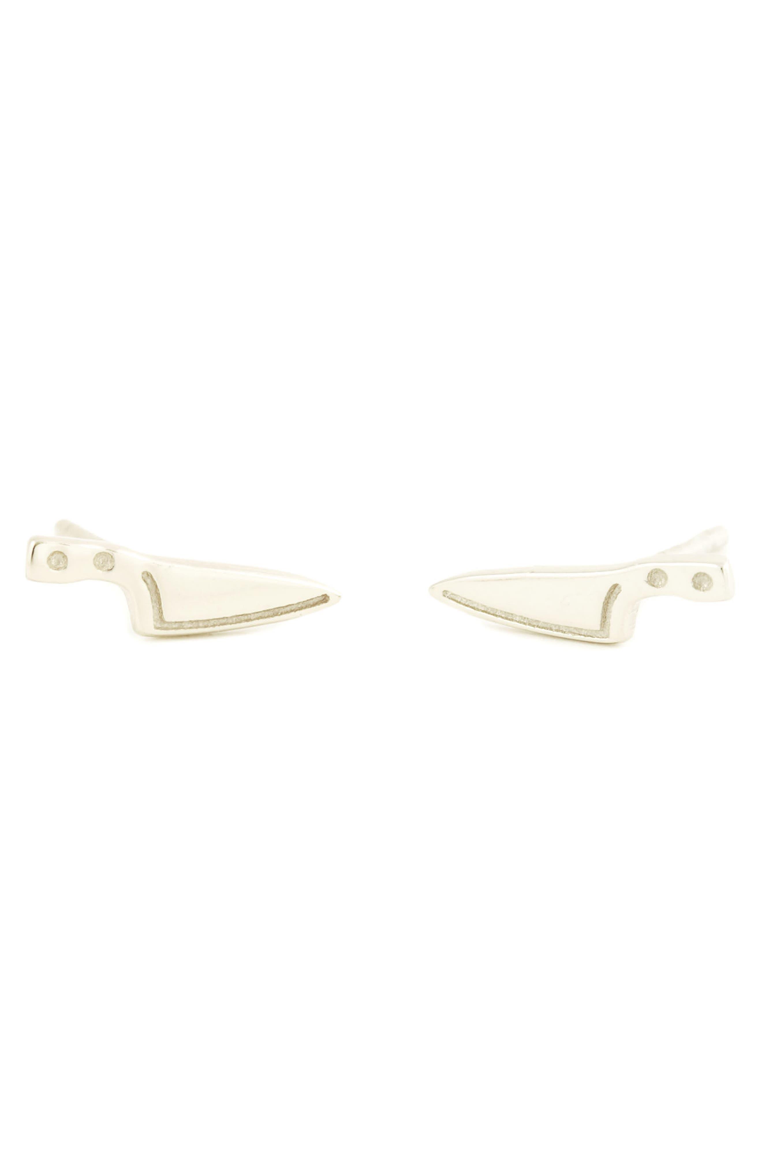 Alternate Image 1 Selected - Kris Nations Knife Stud Earrings