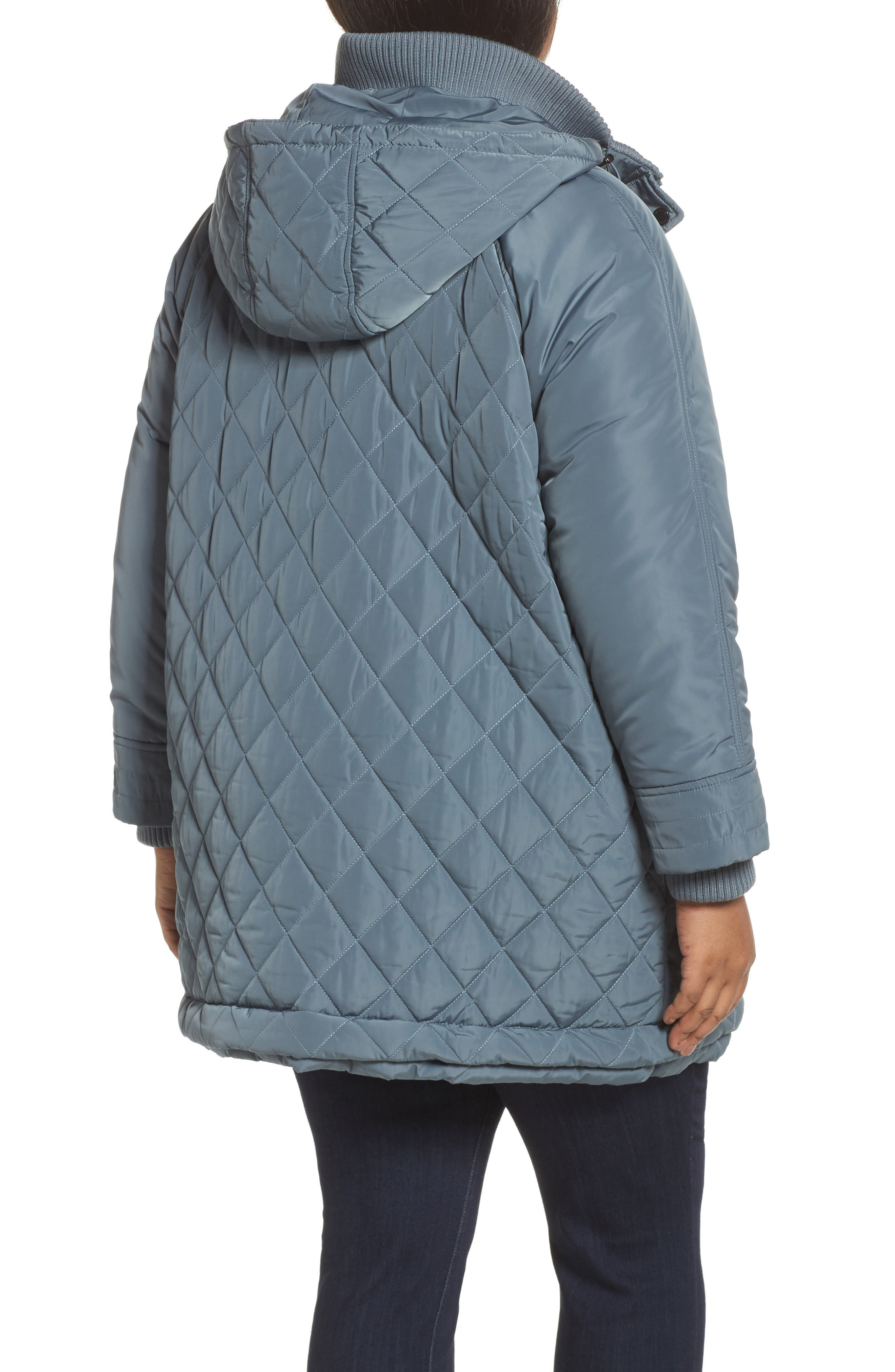 Quilted Hooded Jacket,                             Alternate thumbnail 2, color,                             Patina