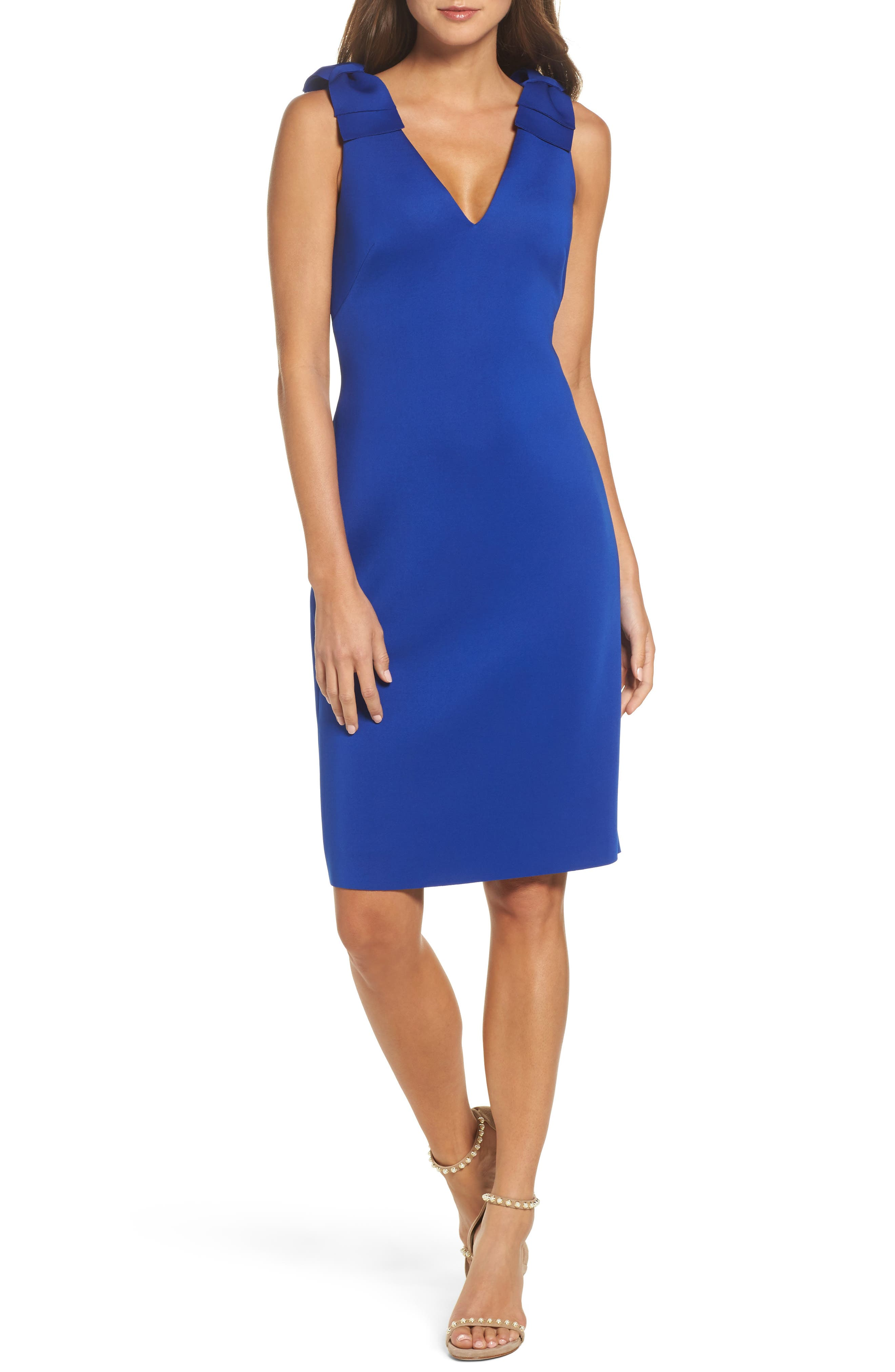Alternate Image 1 Selected - Eliza J Bow Sheath Dress