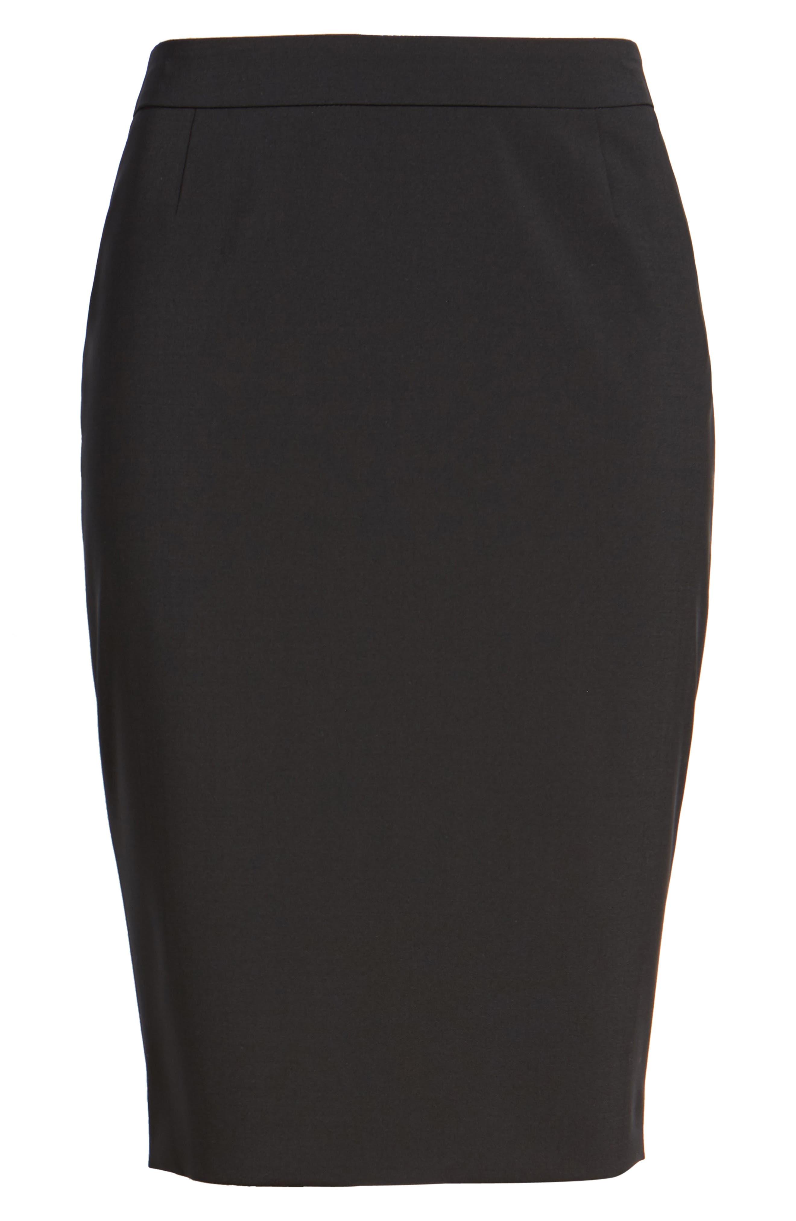 Alternate Image 7  - BOSS Vilea Stretch Wool Pencil Skirt (Regular & Petite)