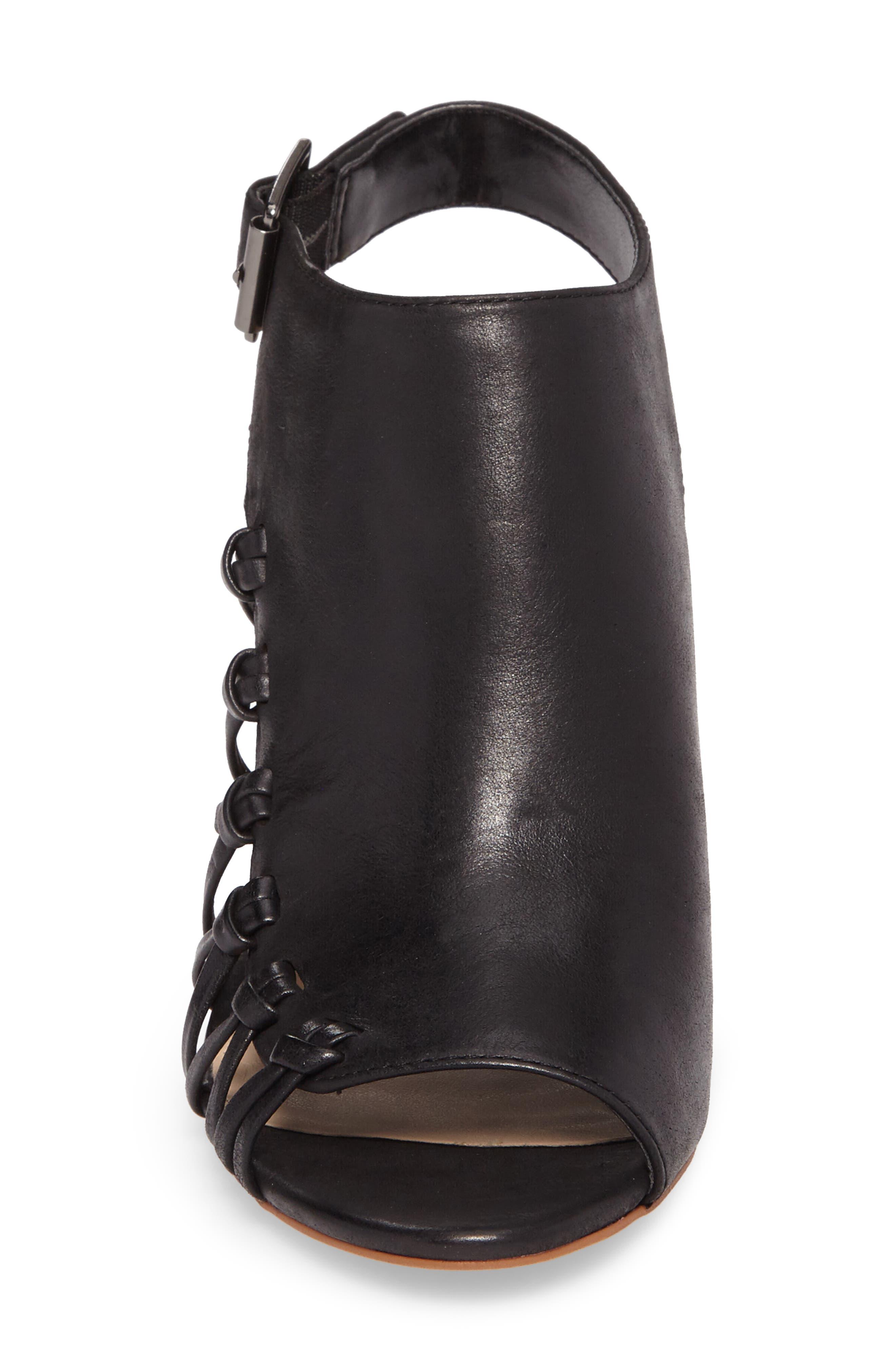 Ankara Sandal,                             Alternate thumbnail 4, color,                             Black Leather