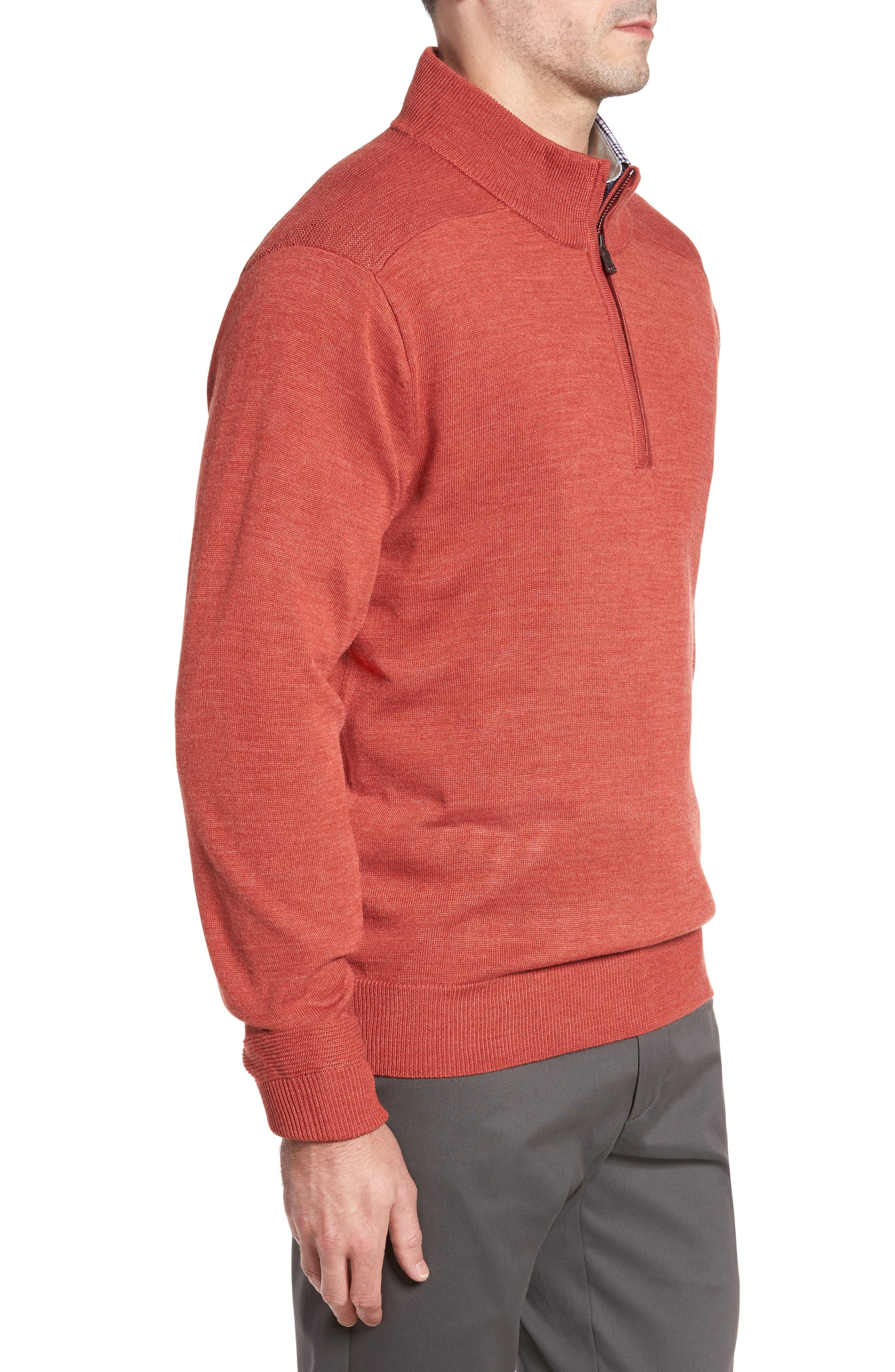 Alternate Image 3  - Cutter & Buck Douglas Quarter Zip Wool Blend Sweater