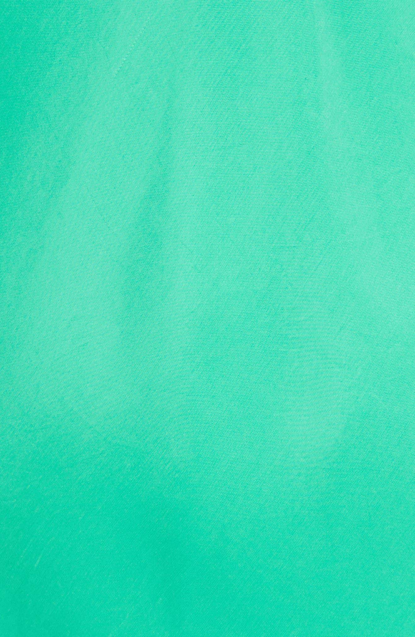 Ruffle Bias Midi Dress,                             Alternate thumbnail 5, color,                             Green