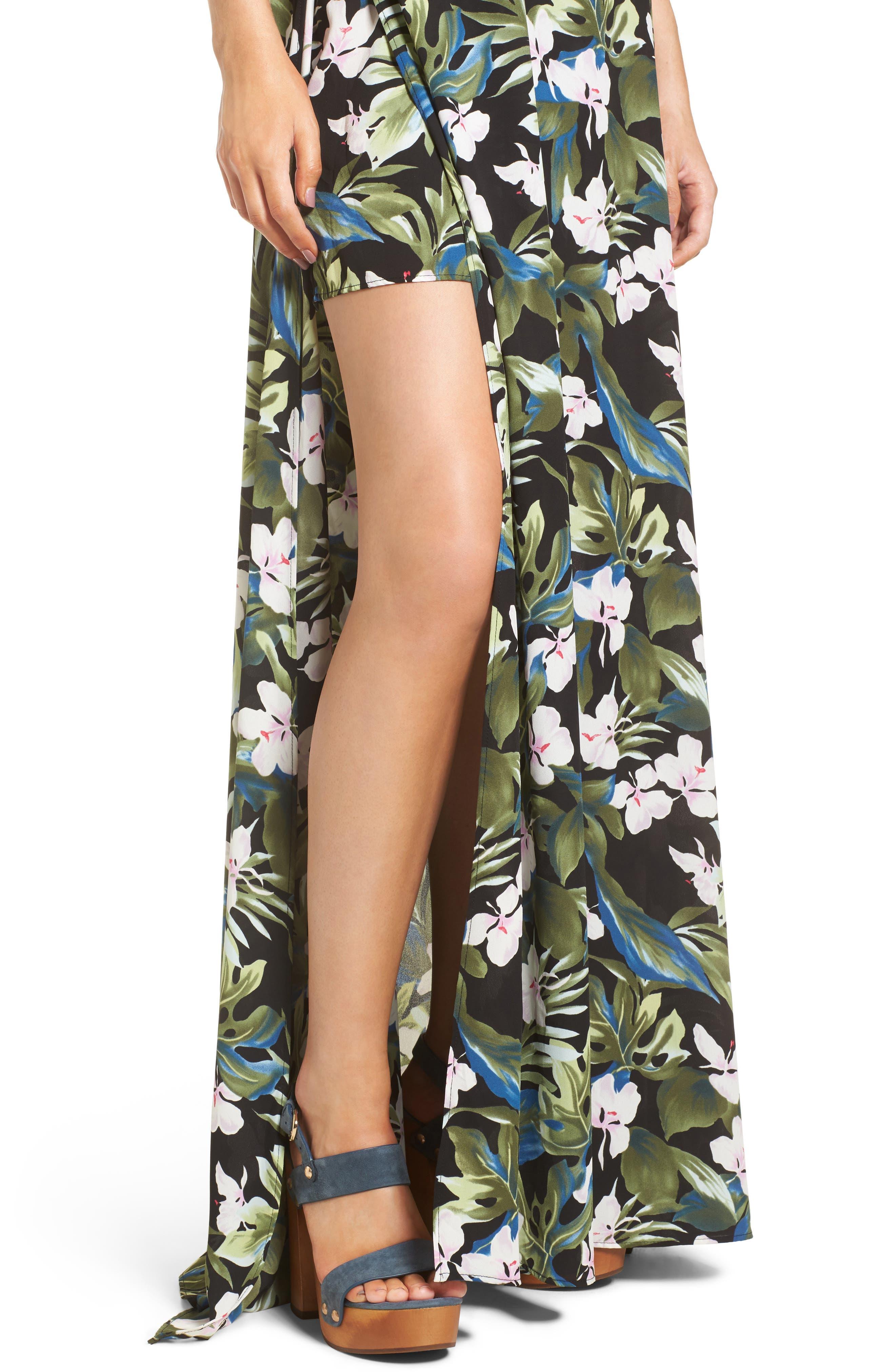 Bronte Maxi Dress,                             Alternate thumbnail 4, color,                             Monet On Vacay