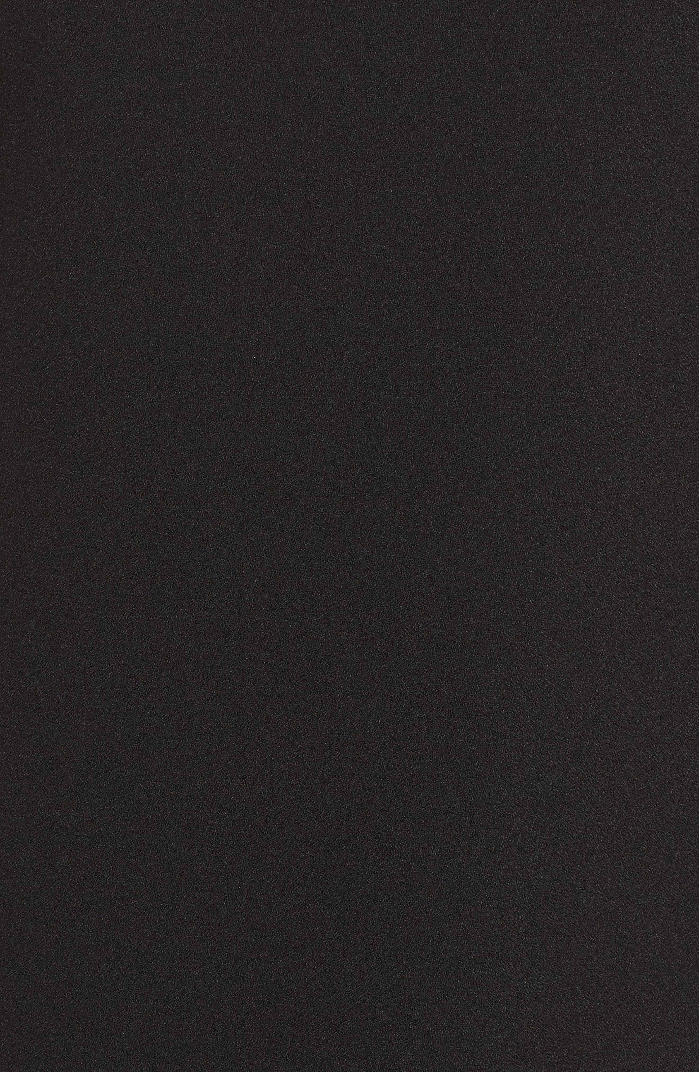 Cold Shoulder Crepe Shift Dress,                             Alternate thumbnail 5, color,                             Black
