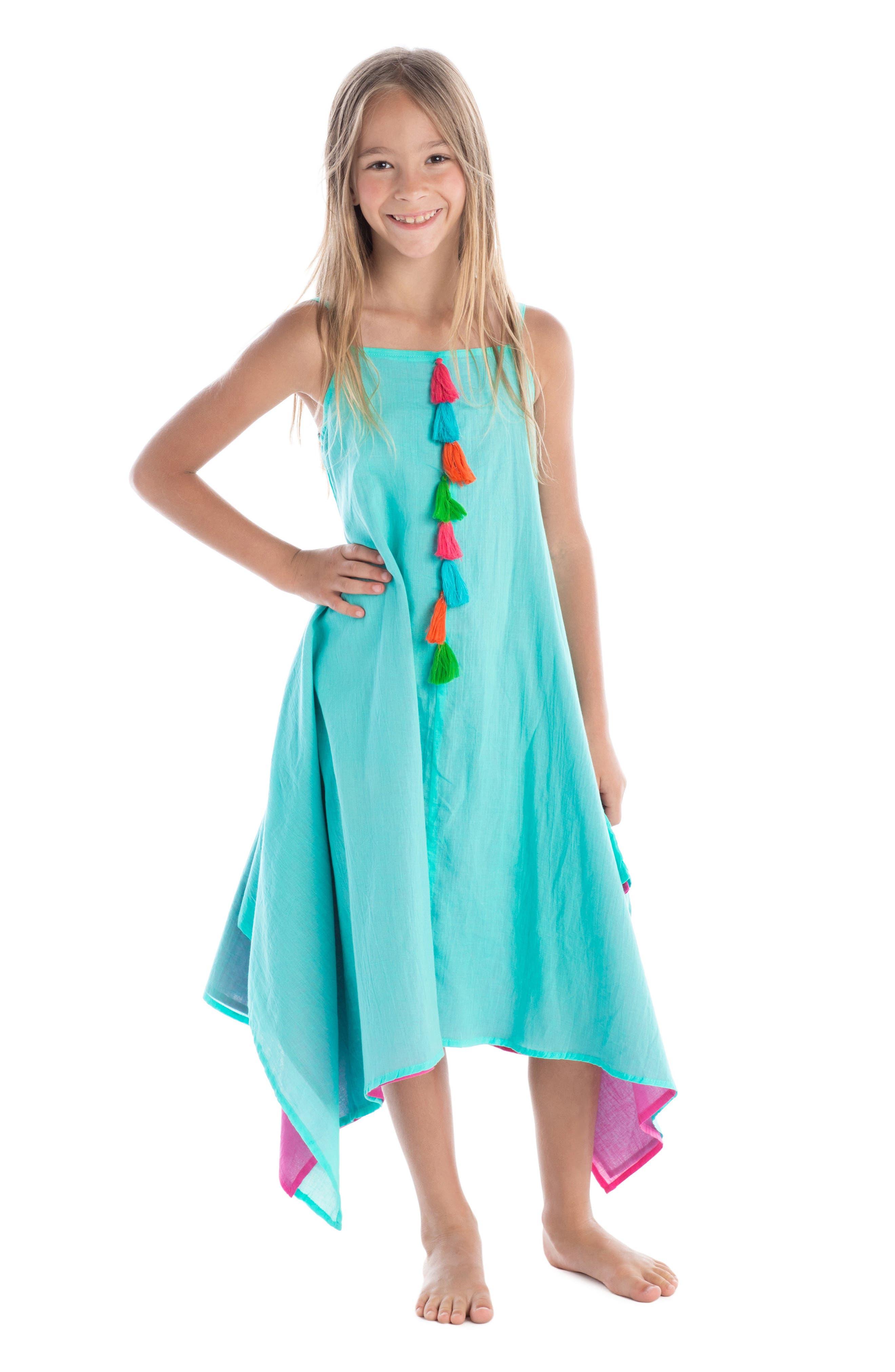Alternate Image 2  - Masalababy Citra Tassel Dress (Toddler Girls)