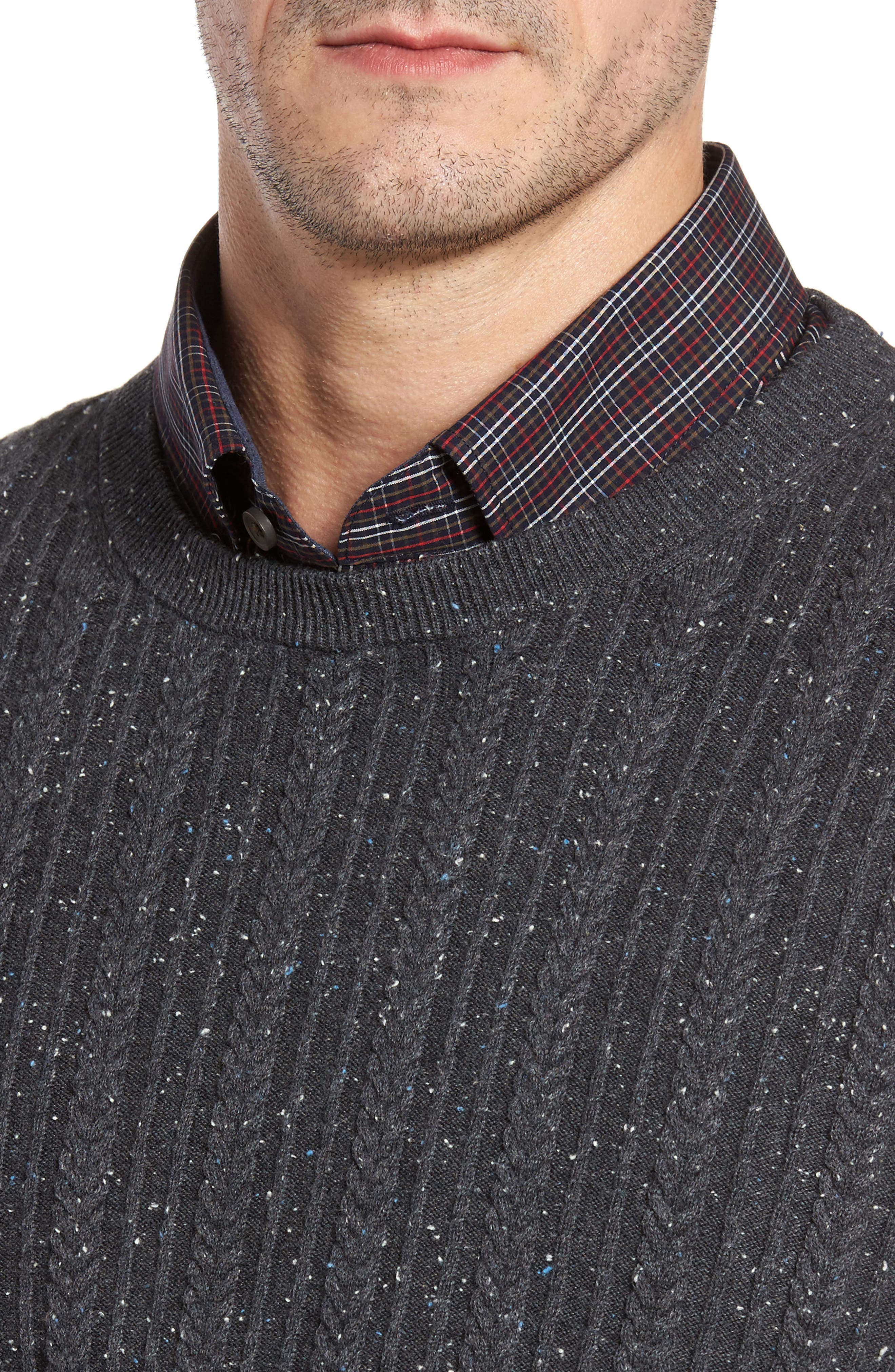 Carlton Crewneck Sweater,                             Alternate thumbnail 4, color,                             Charcoal
