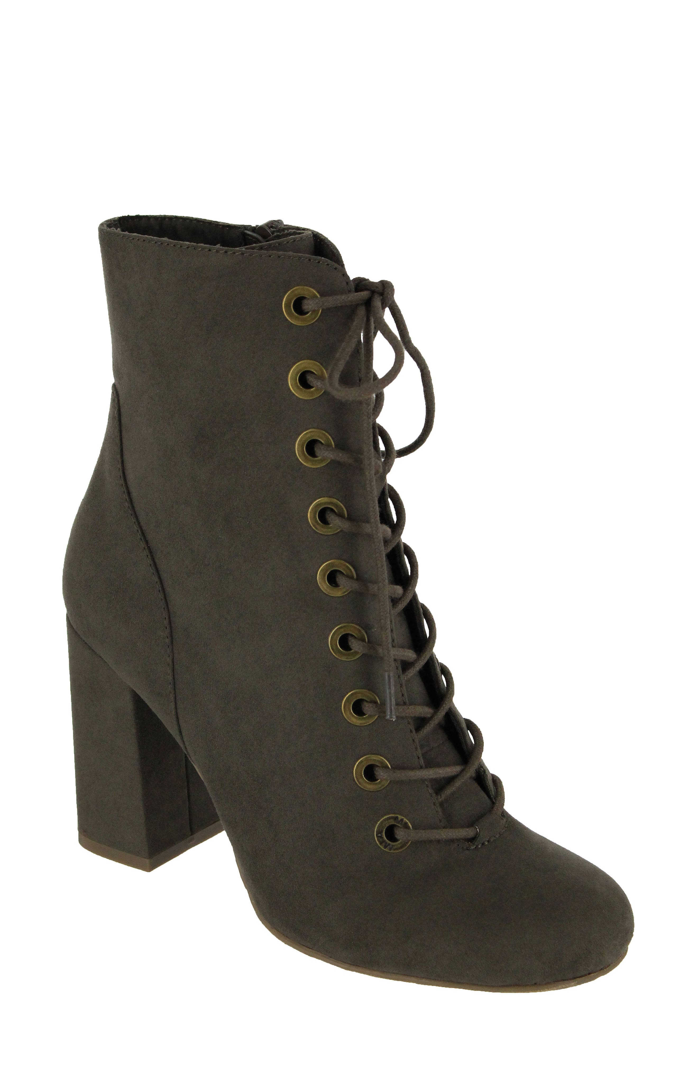 Alternate Image 1 Selected - MIA Janie Lace-Up Bootie (Women)