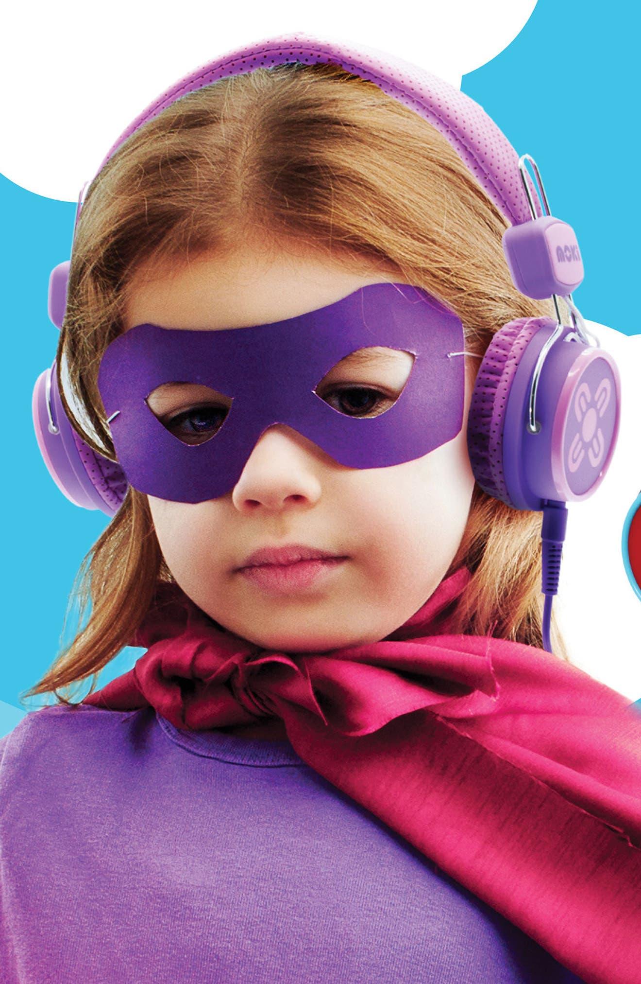 Volume Limited Headphones,                             Alternate thumbnail 6, color,                             Pink/ Purple