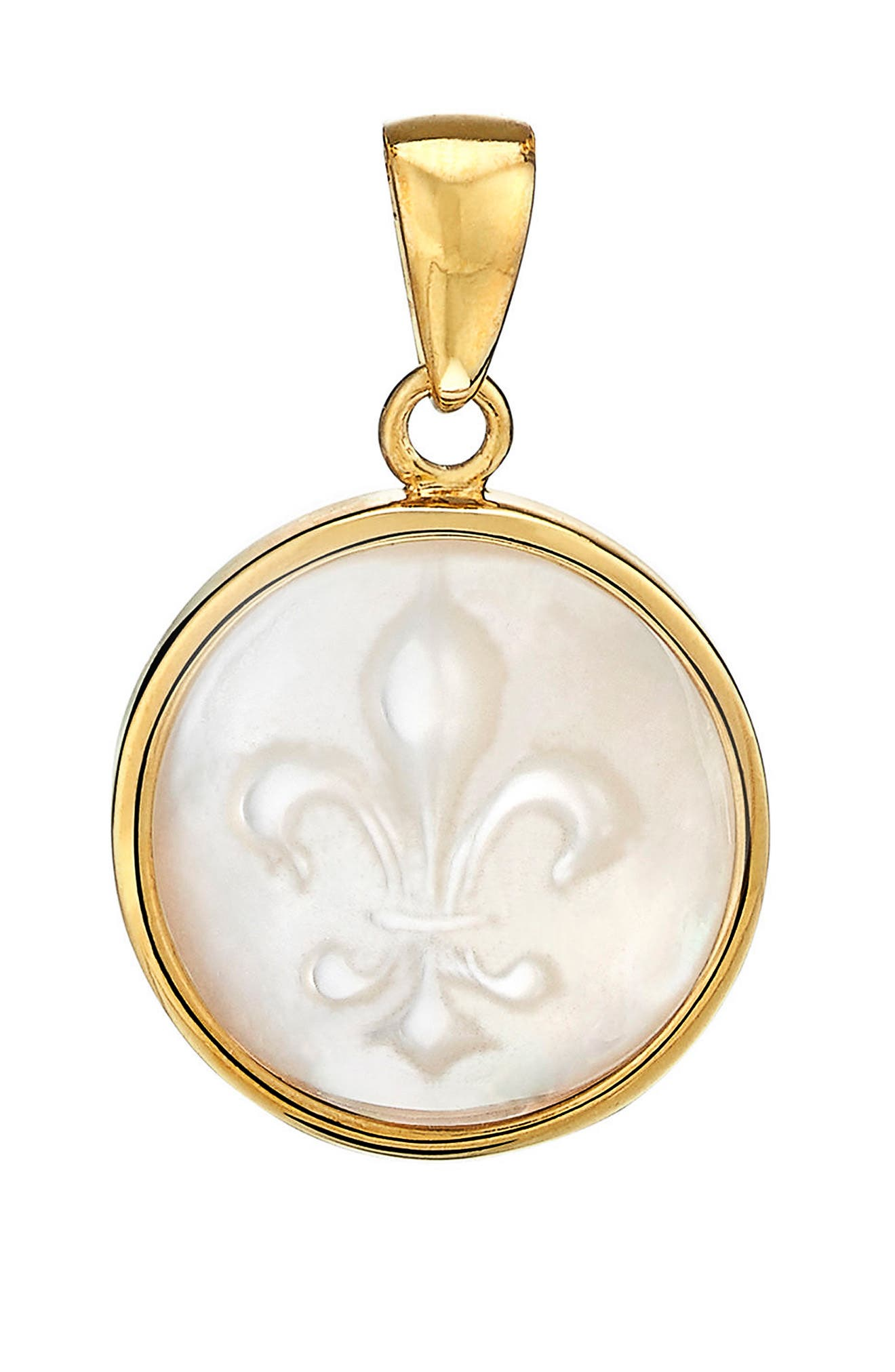 Alternate Image 1 Selected - ASHA Fleur de Lis Mother-of-Pearl Charm