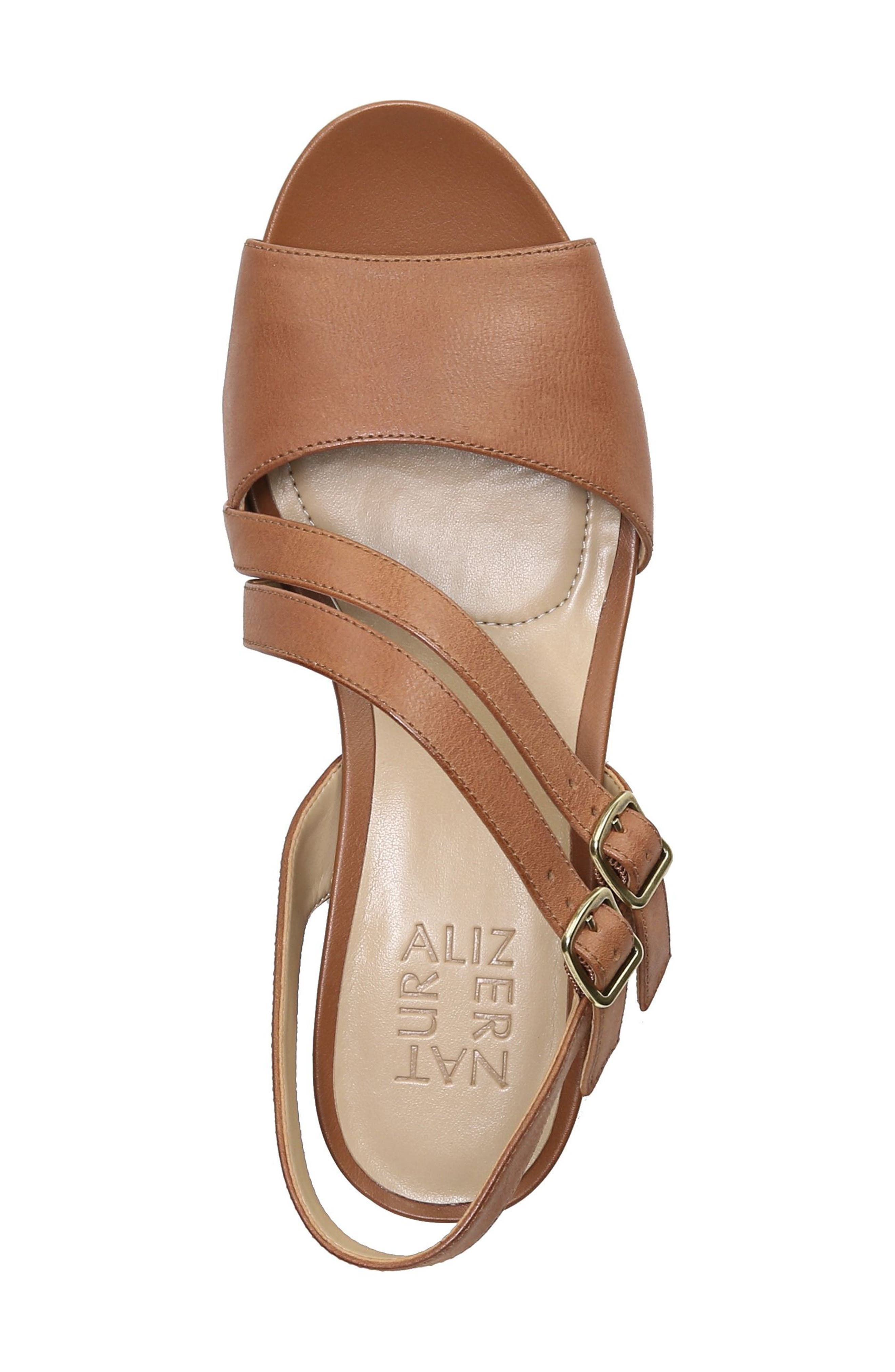 Gigi Sandal,                             Alternate thumbnail 5, color,                             Light Maple Leather