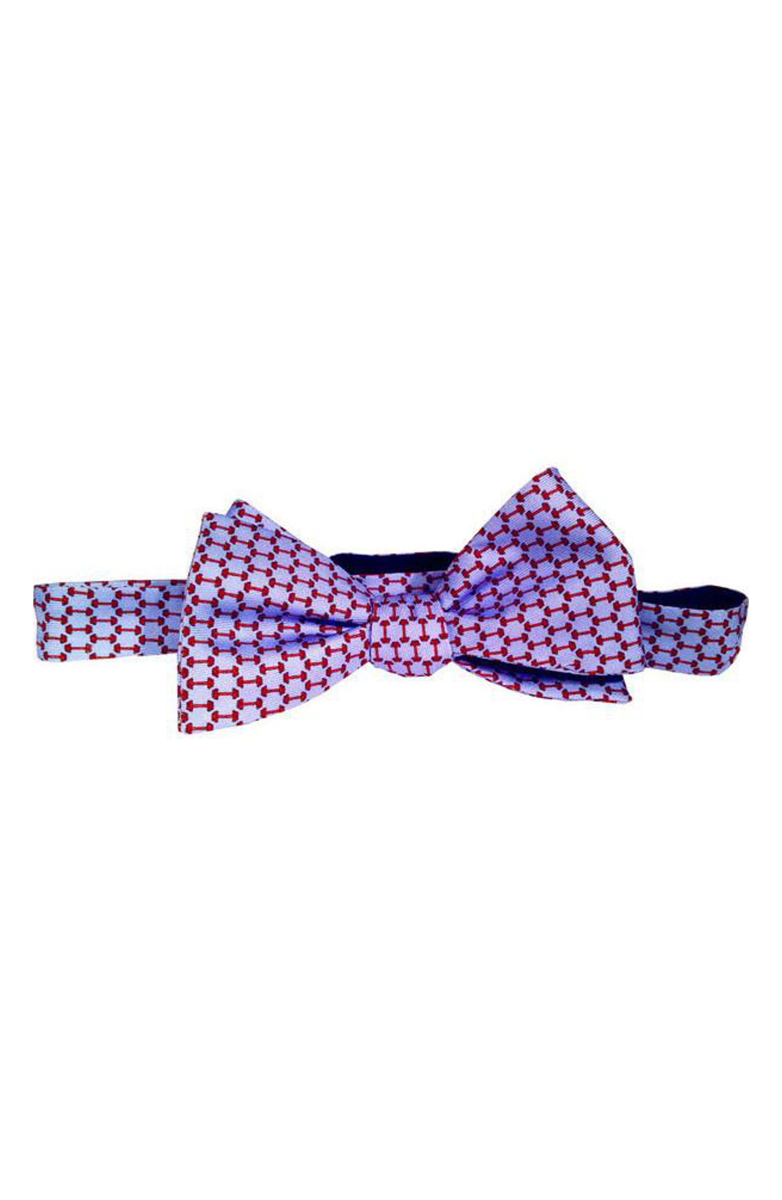 Lift Silk Bow Tie,                         Main,                         color, Blue