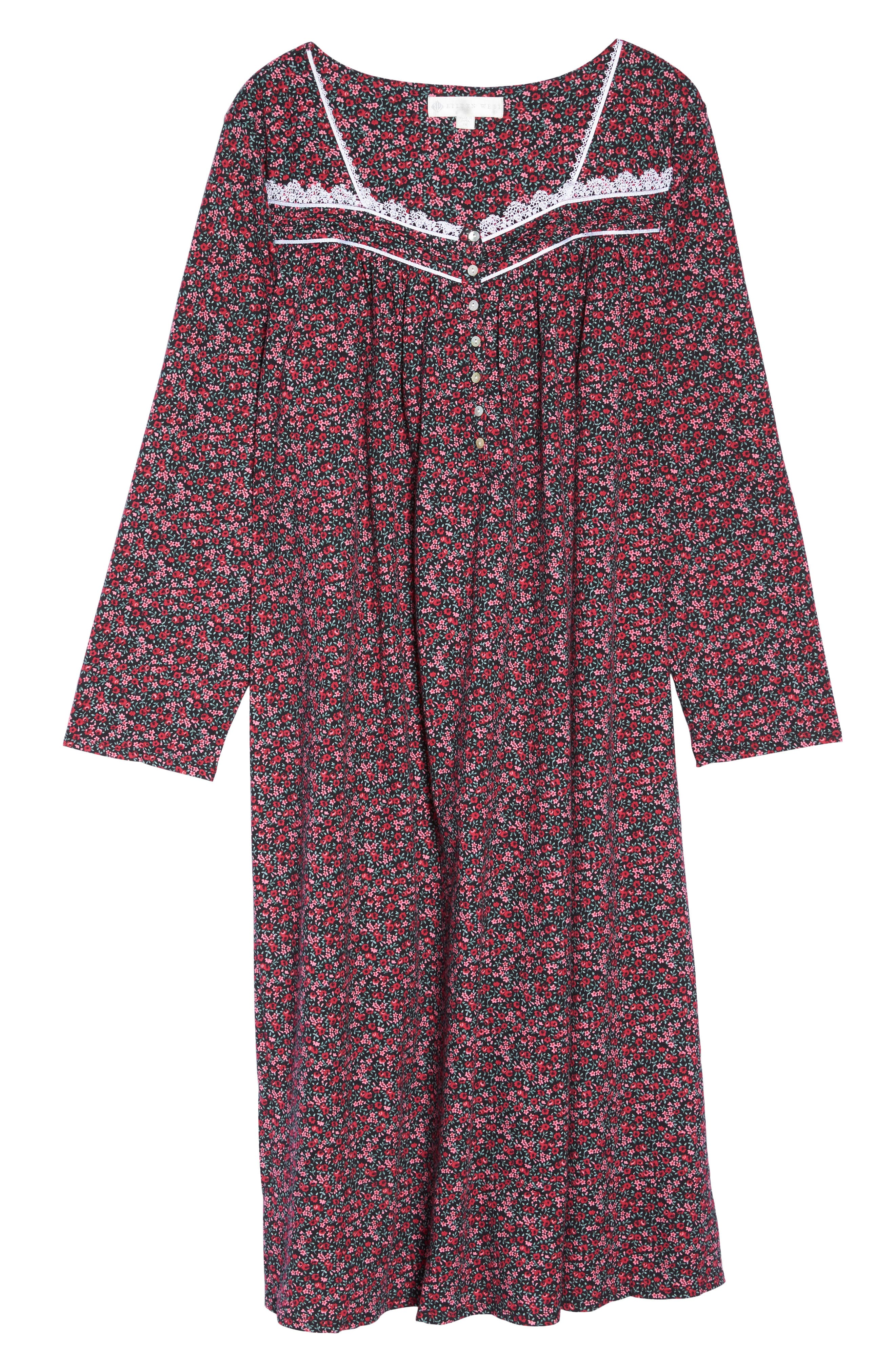 Alternate Image 4  - Eileen West Cotton Nightgown (Plus Size)