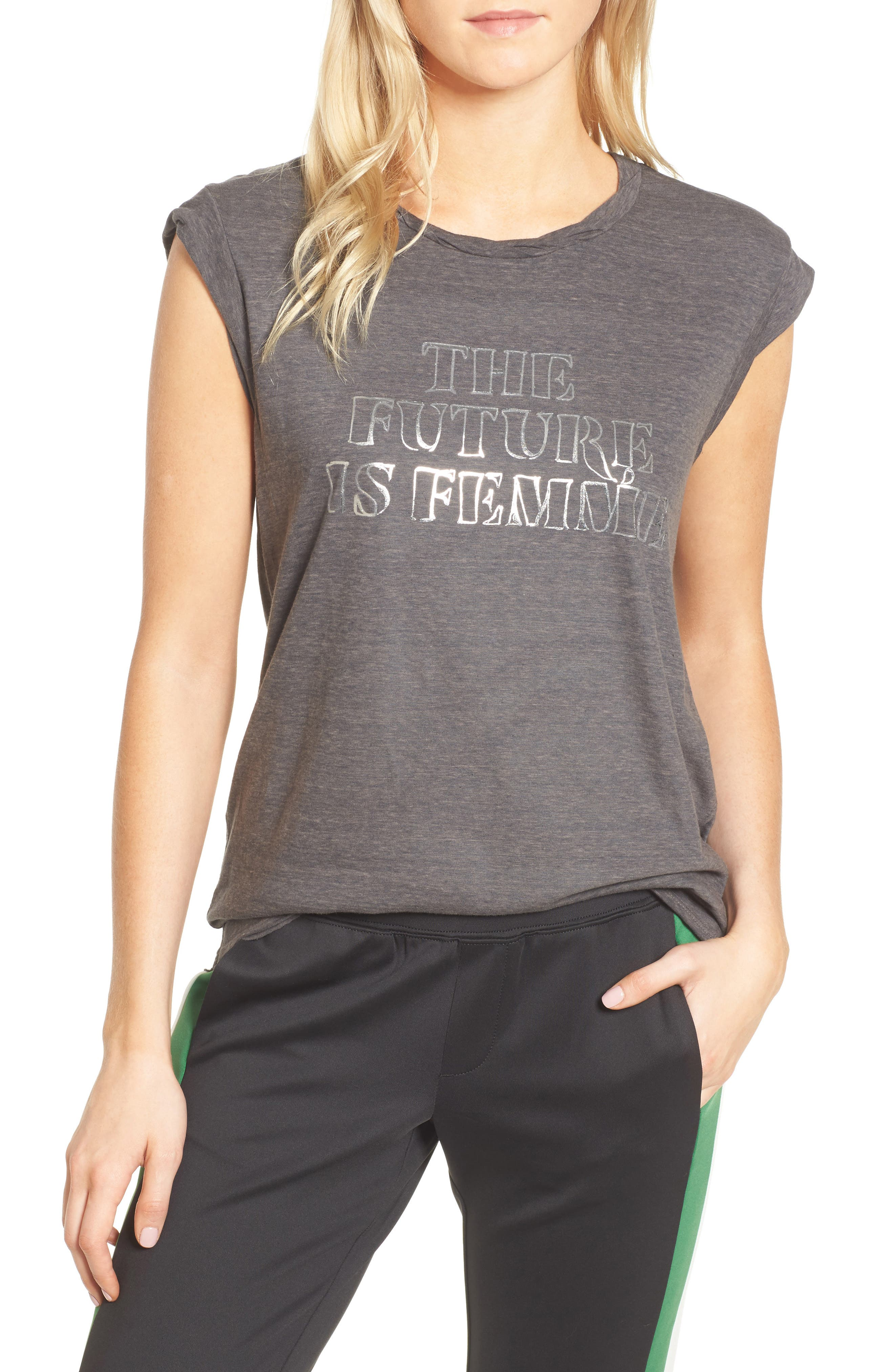 Frankie - The Future is Femme Muscle Tank,                         Main,                         color, Lead