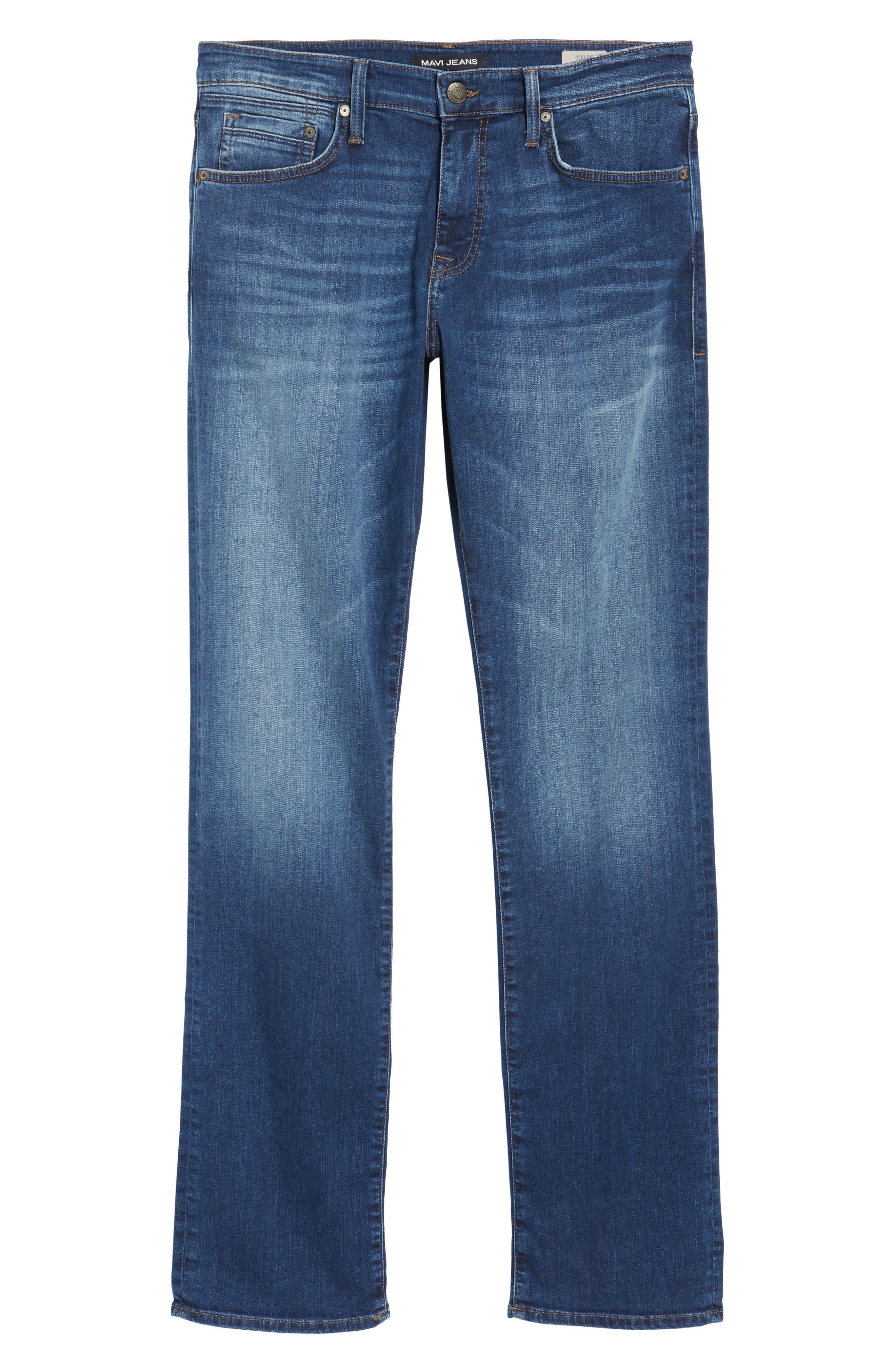 Alternate Image 6  - Mavi Jeans Myles Straight Fit Jeans (Dark Used Williamsburg)