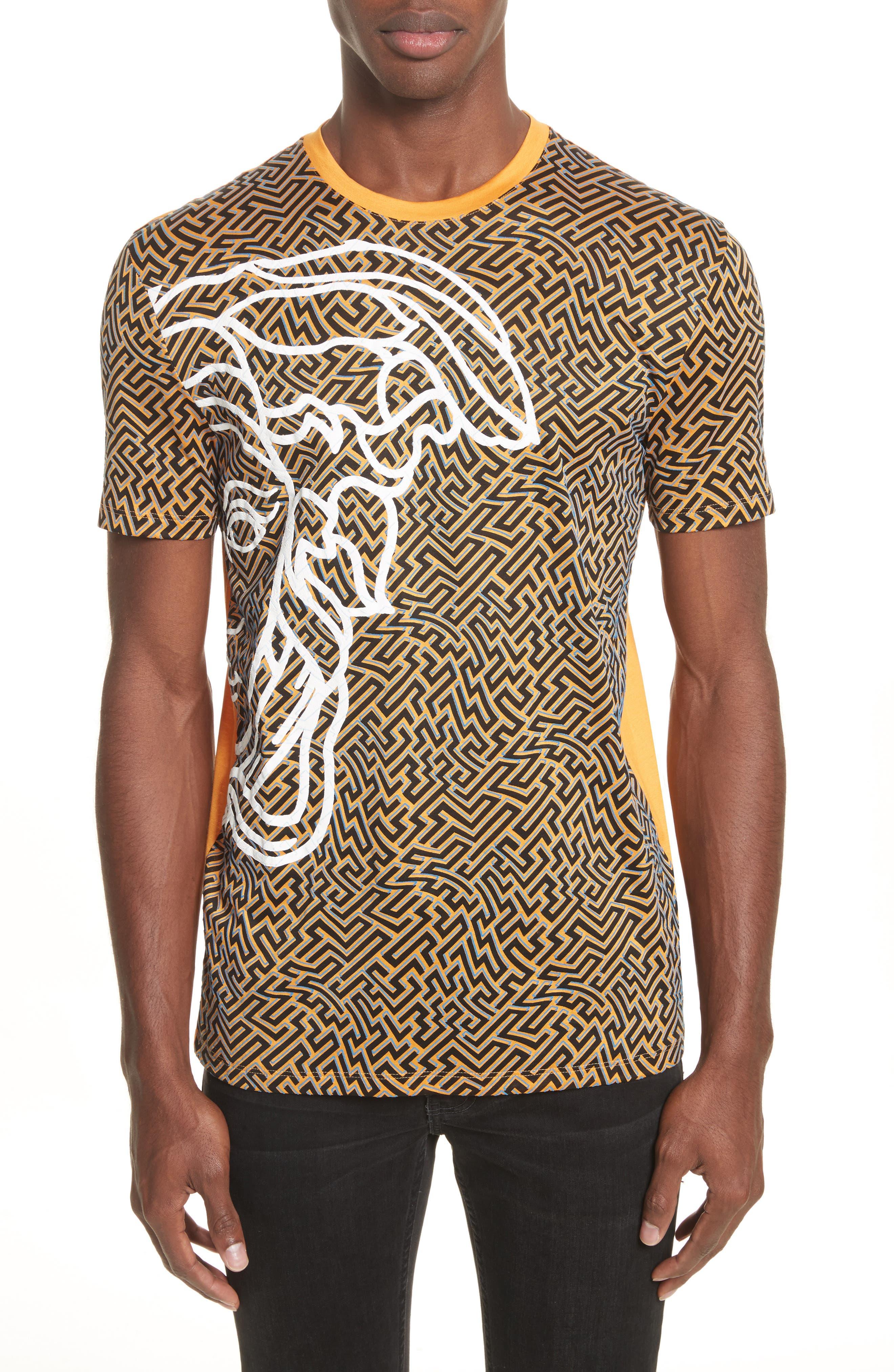 Versace Collection Geo Medusa Print T-Shirt
