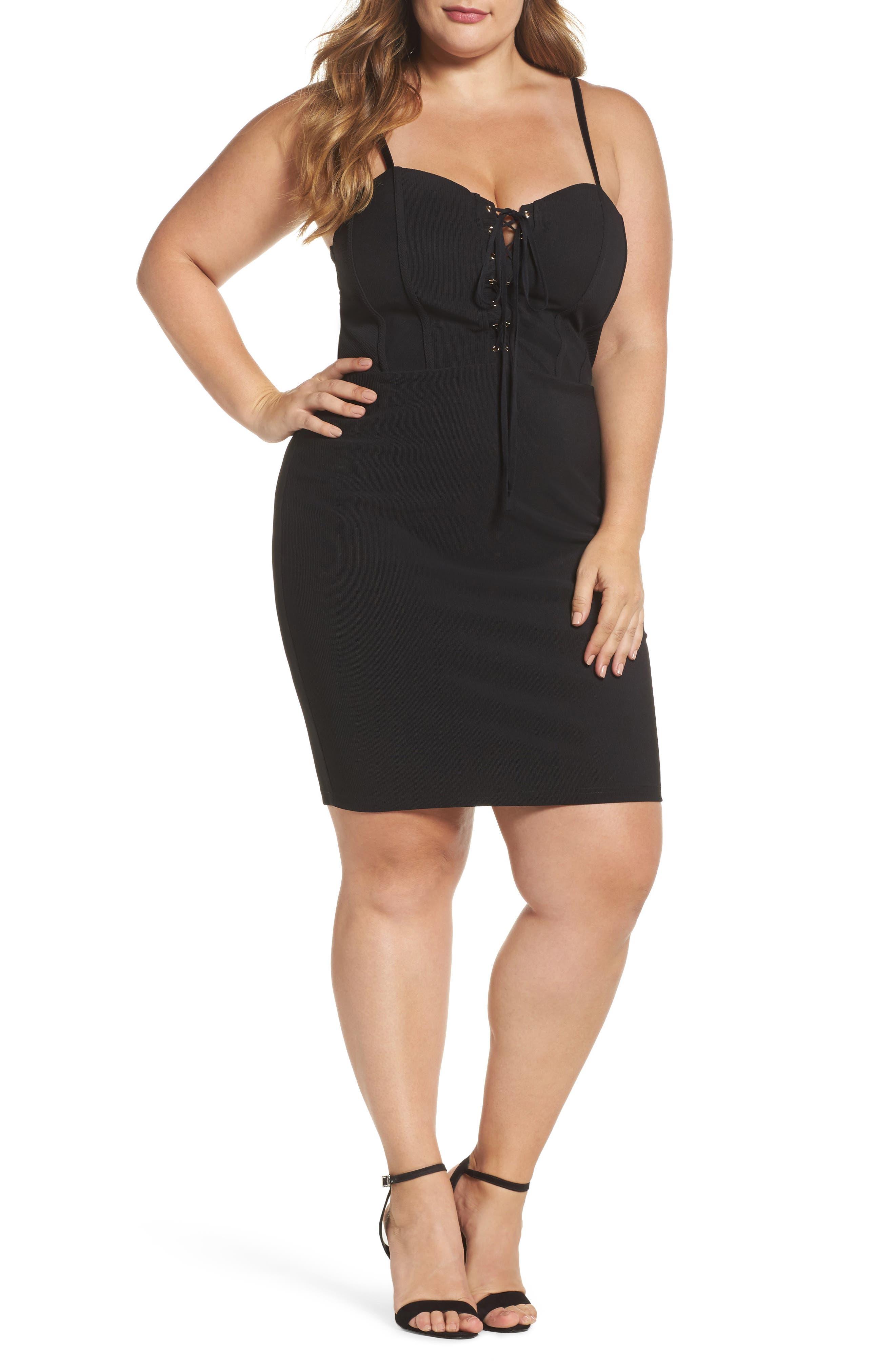 Main Image - Soprano Corset Body-Con Dress
