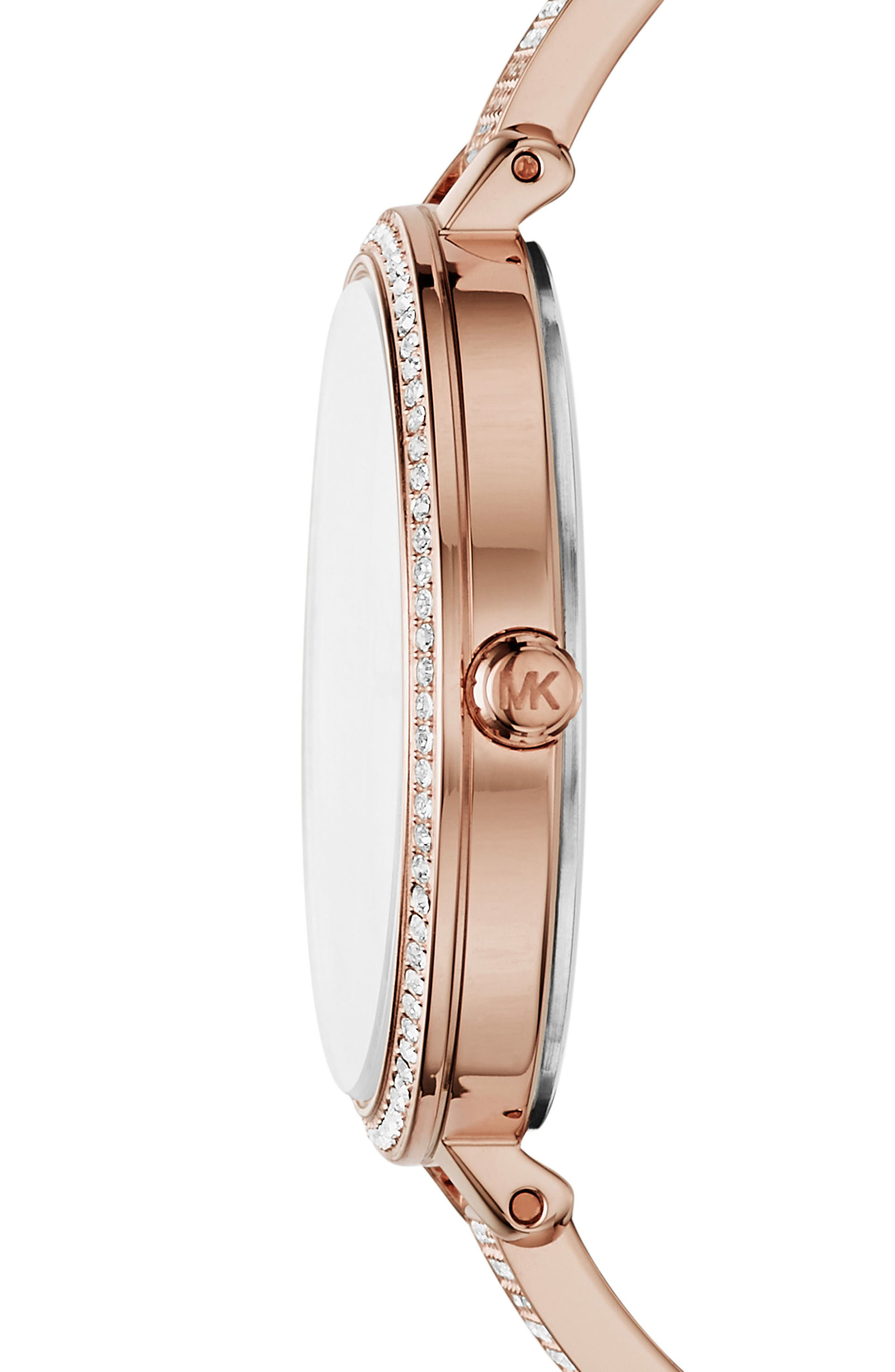 Jaryn Pavé Bangle Watch, 36mm,                             Alternate thumbnail 2, color,                             Rose Gold