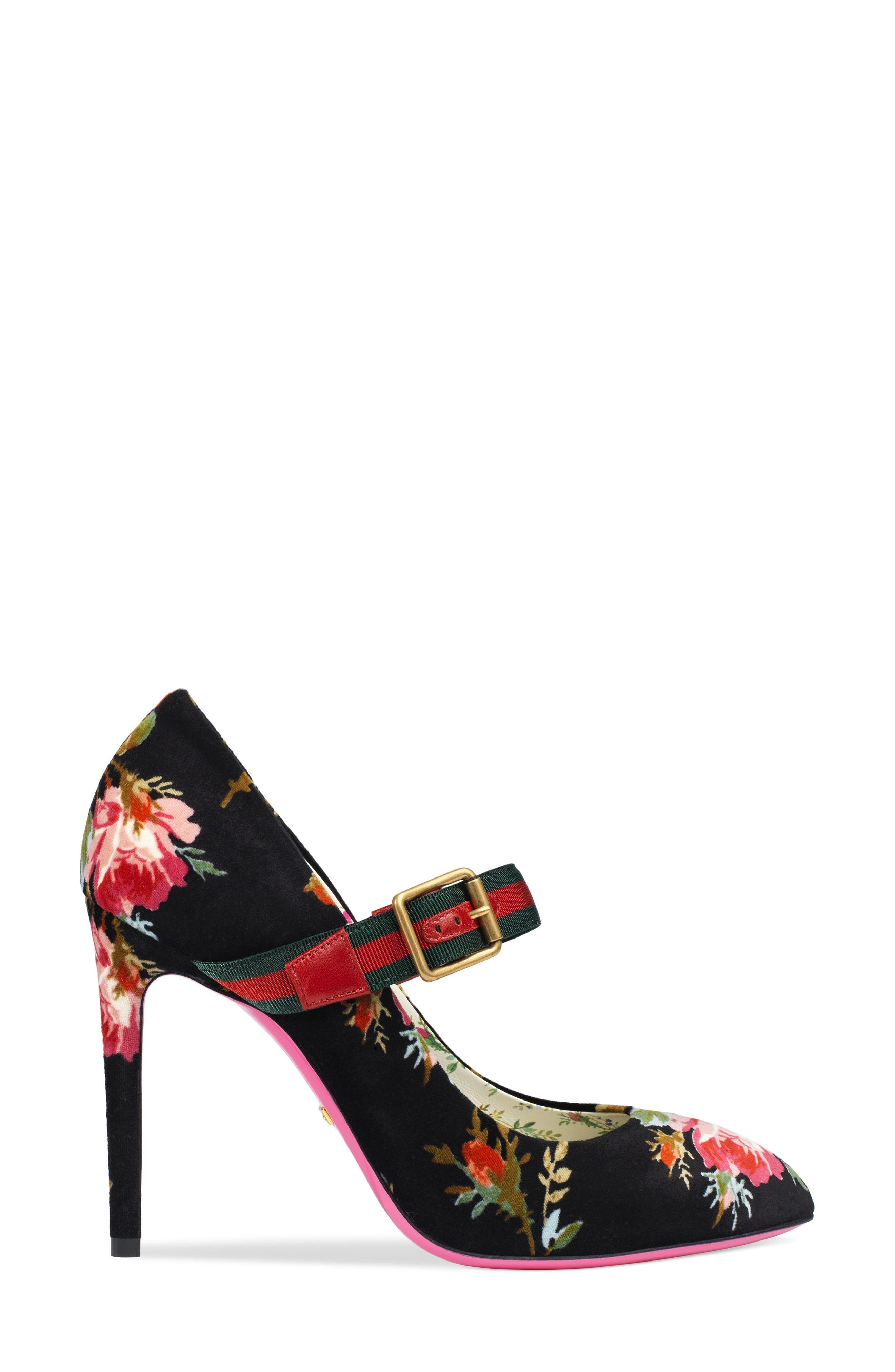 Alternate Image 2  - Gucci Sylvie Pointy Toe Mary Jane Pump (Women)